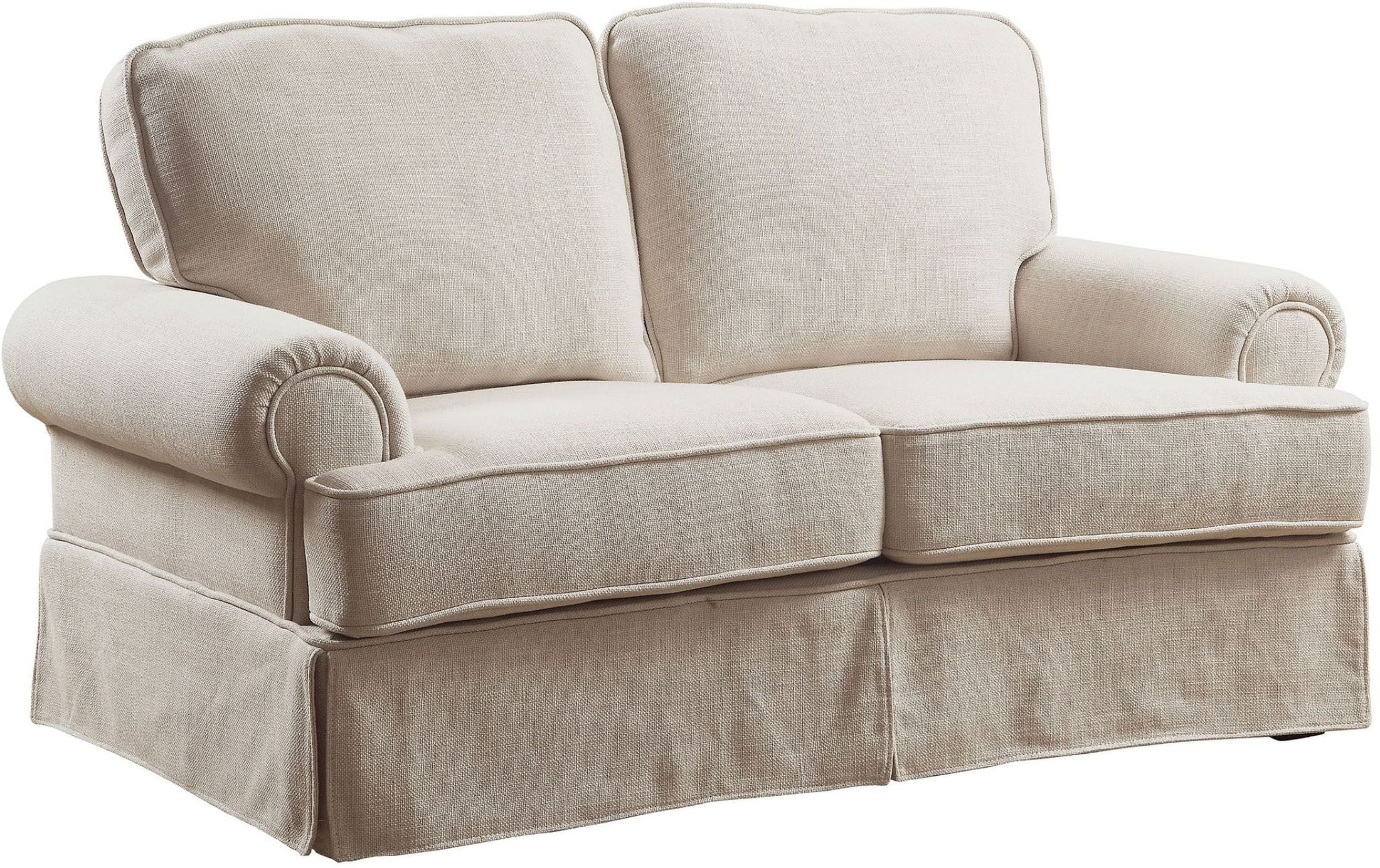 Badalona I Beige Loveseat Pertaining To Latest Deandra Loveseats With Cushions (View 1 of 25)