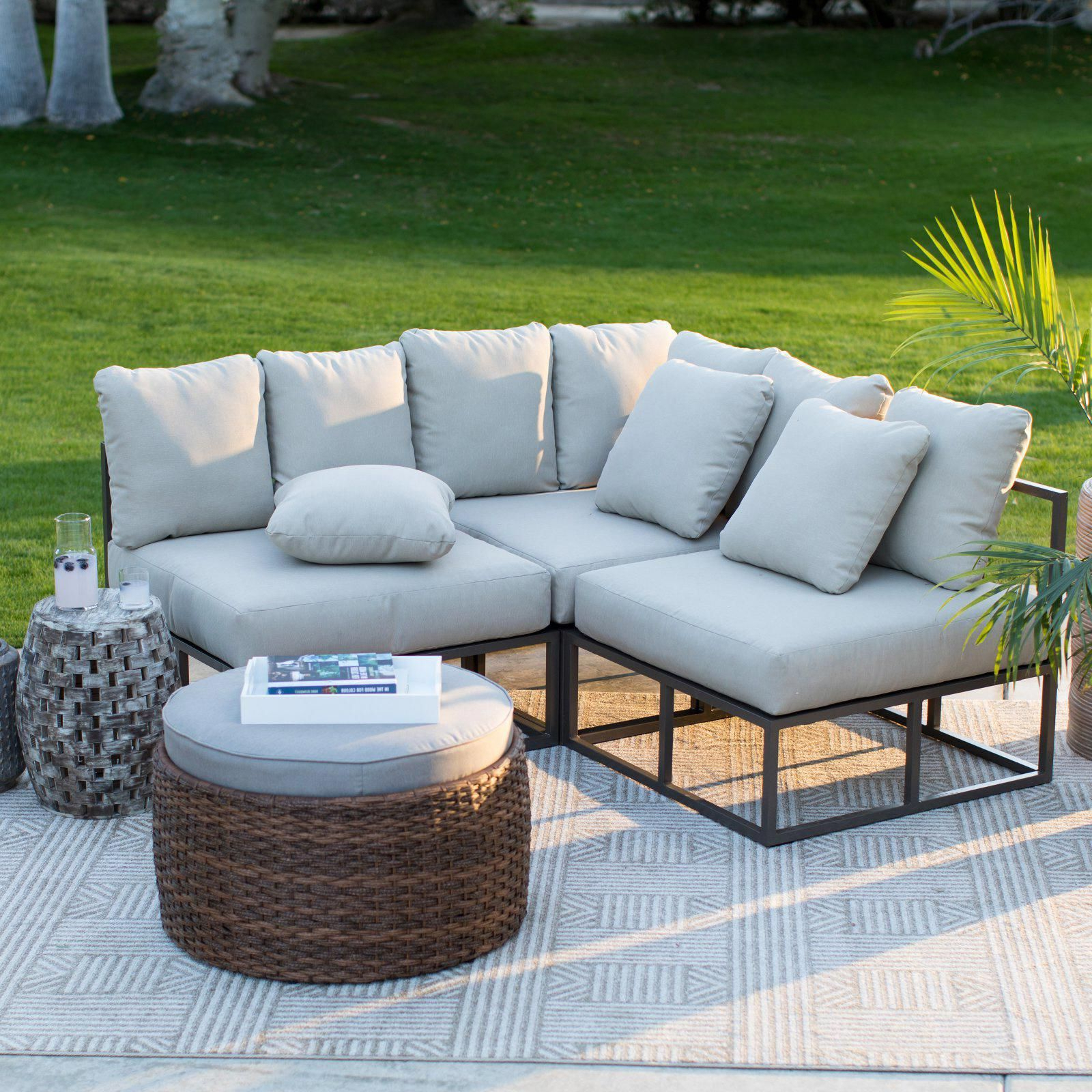 Best 12 Belham Living Bonaire Aluminum 3 Piece Outdoor Intended For Newest Carina 4 Piece Sectionals Seating Group With Cushions (Gallery 20 of 25)