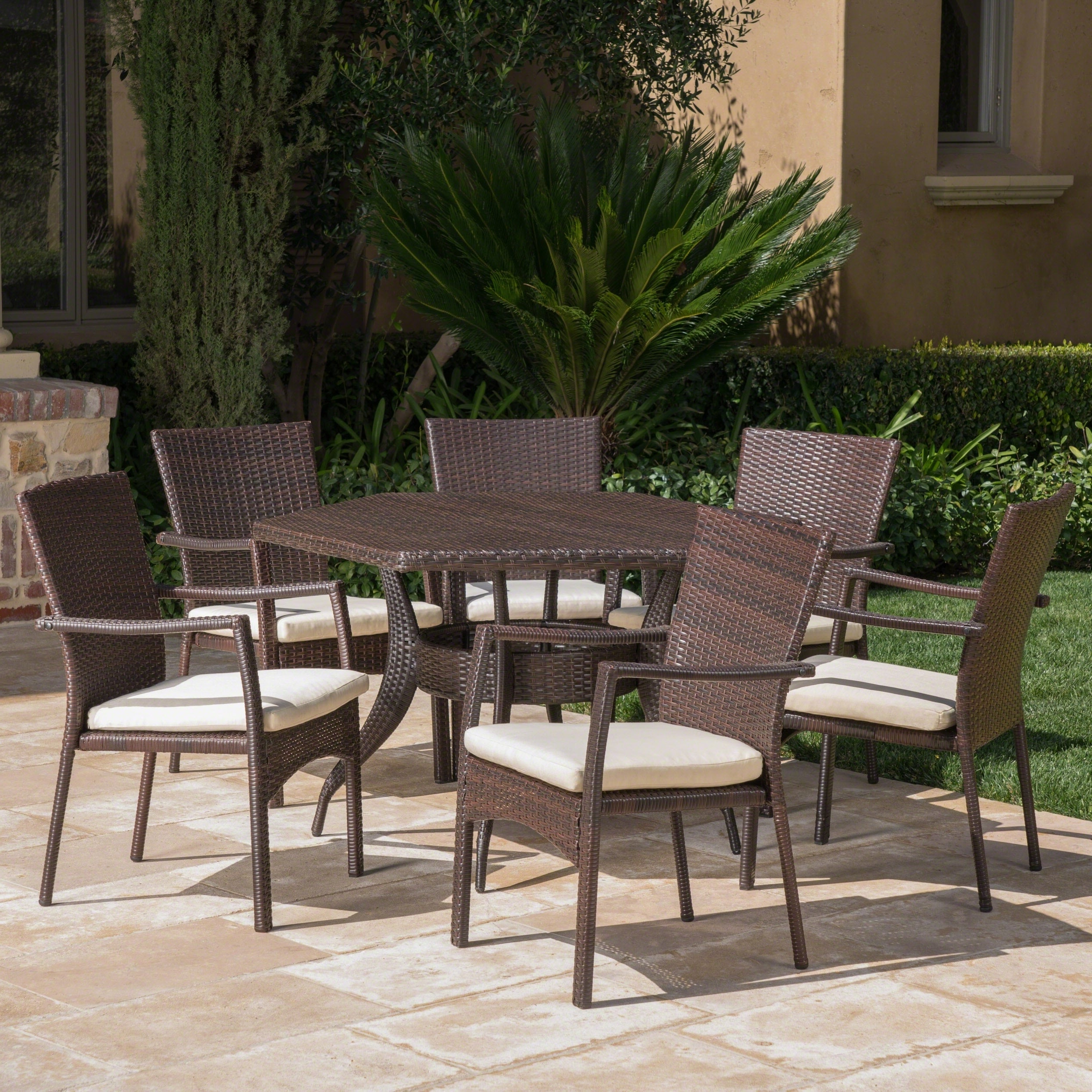 Best And Newest Lawson Outdoor 7 Piece Dining Set With Cushionschristopher Knight Home With Lawson Patio Sofas With Cushions (Gallery 14 of 25)