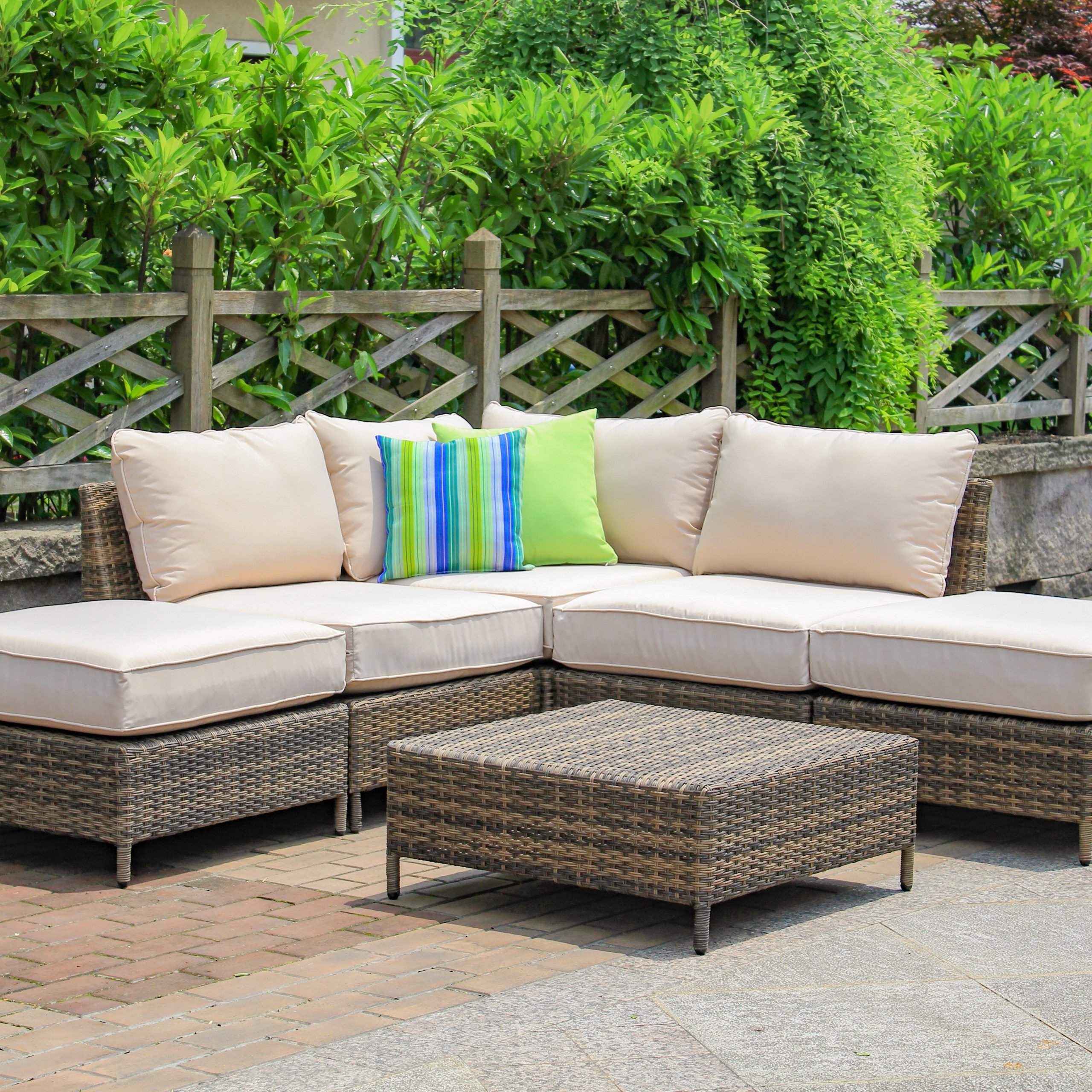 Best And Newest Sophie 6 Piece Sectional Seating Group With Cushions With Letona Patio Sectionals With Cushions (Gallery 20 of 25)