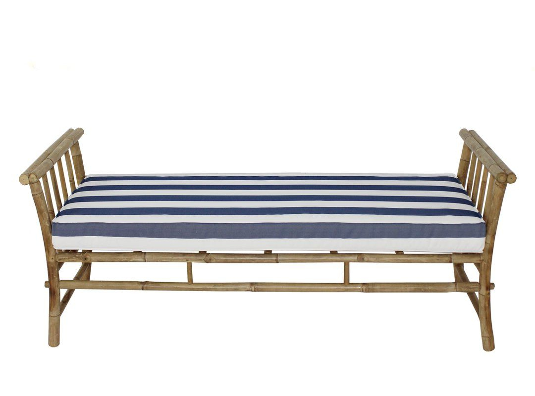 Bodine Patio Daybeds With Cushions For Well Known Grosvenor Bamboo Patio Daybed With Mattress (View 8 of 25)