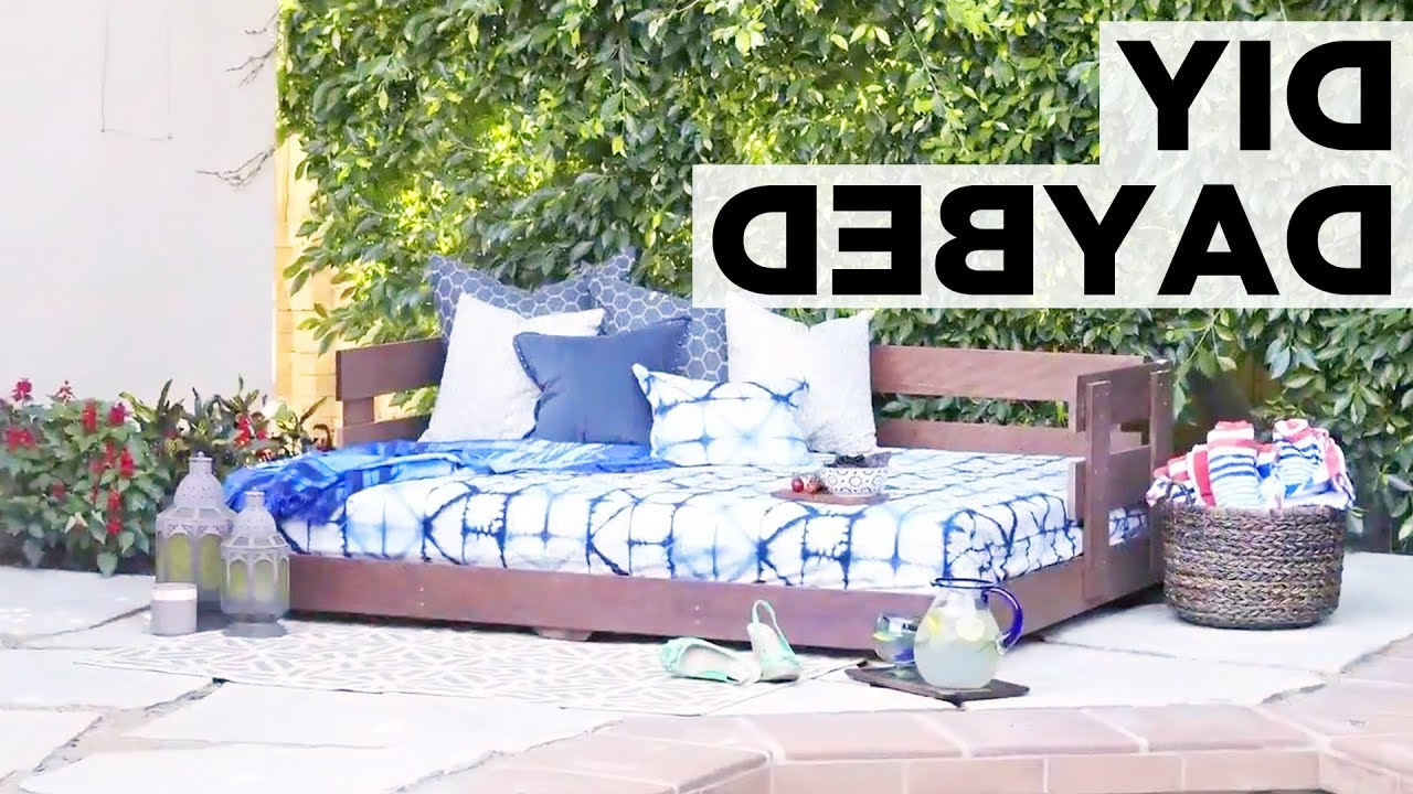 Bodine Patio Daybeds With Cushions With Regard To Best And Newest How To Build An Outdoor Daybed – Hgtv (View 11 of 25)
