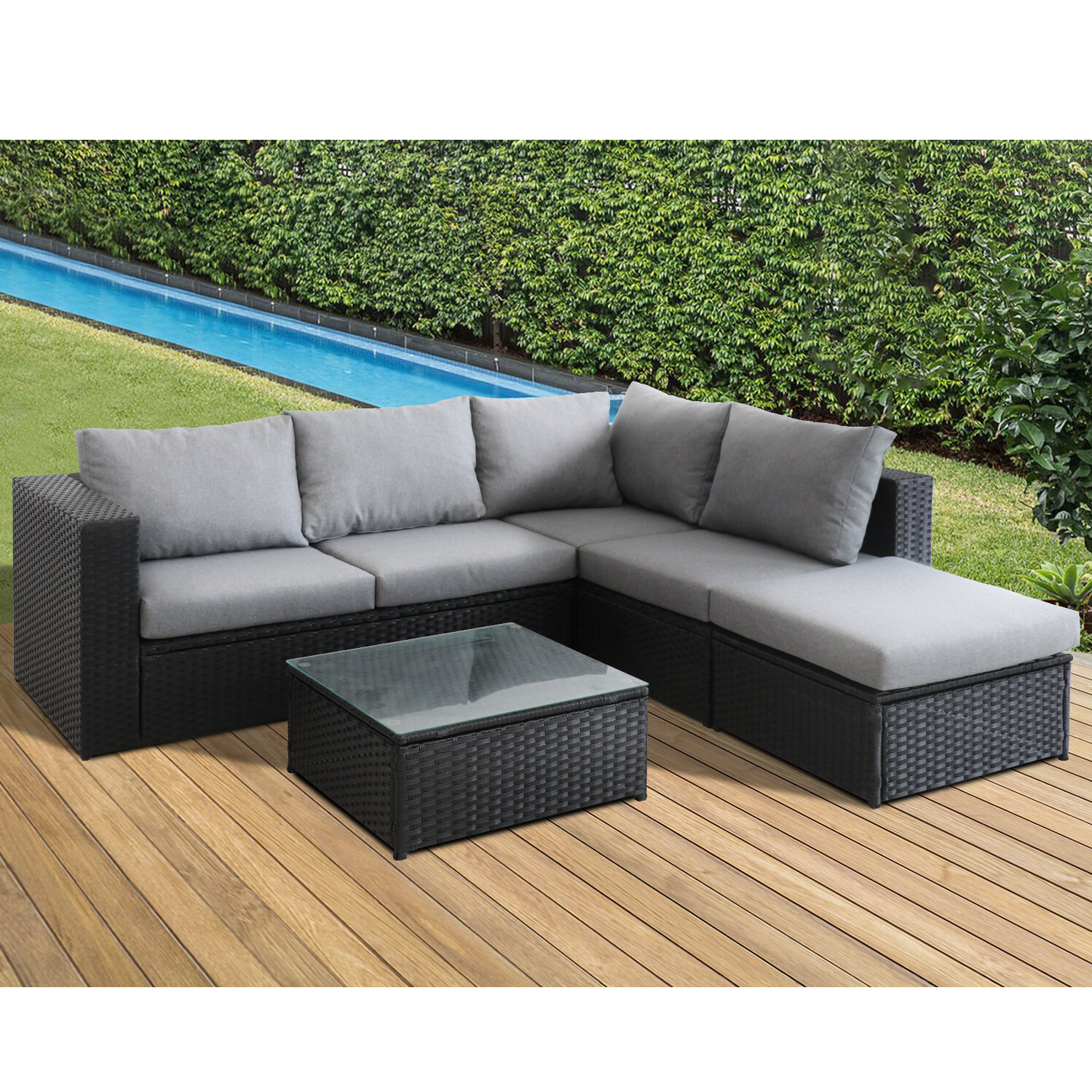 Bozman 4 Piece Sectional Seating Group With Cushions Regarding Famous Letona Patio Sectionals With Cushions (View 22 of 25)