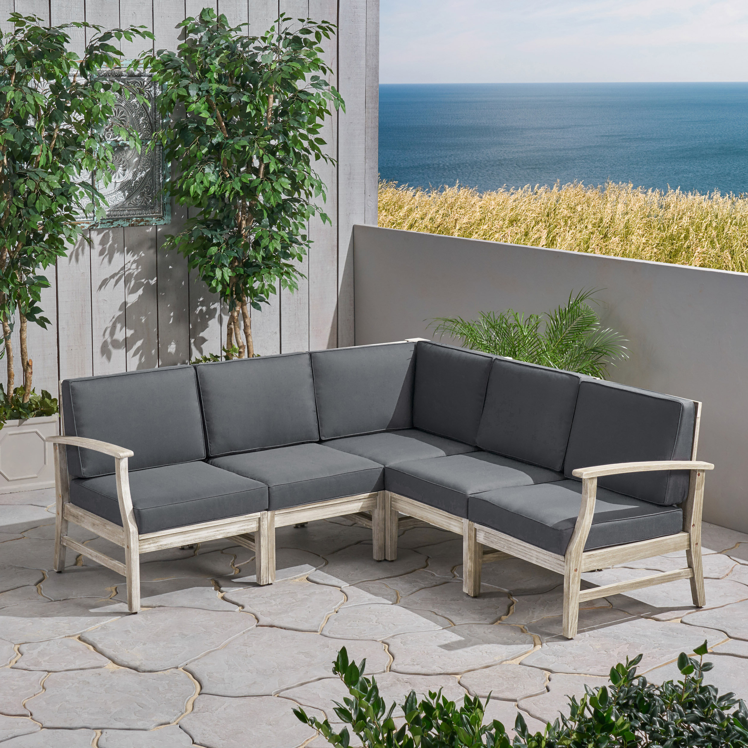 Brickhouse Patio Sectional With Cushions With Widely Used Catalina Outdoor Right Arm Sectional Pieces With Cushions (Gallery 22 of 25)
