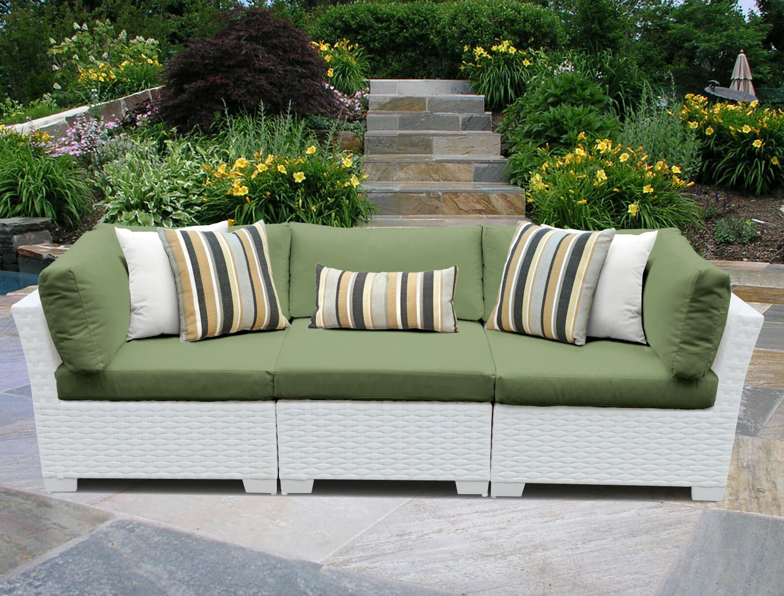 Burgoon Patio Sofa With Cushions For Newest Menifee Patio Sofas With Cushions (View 11 of 25)