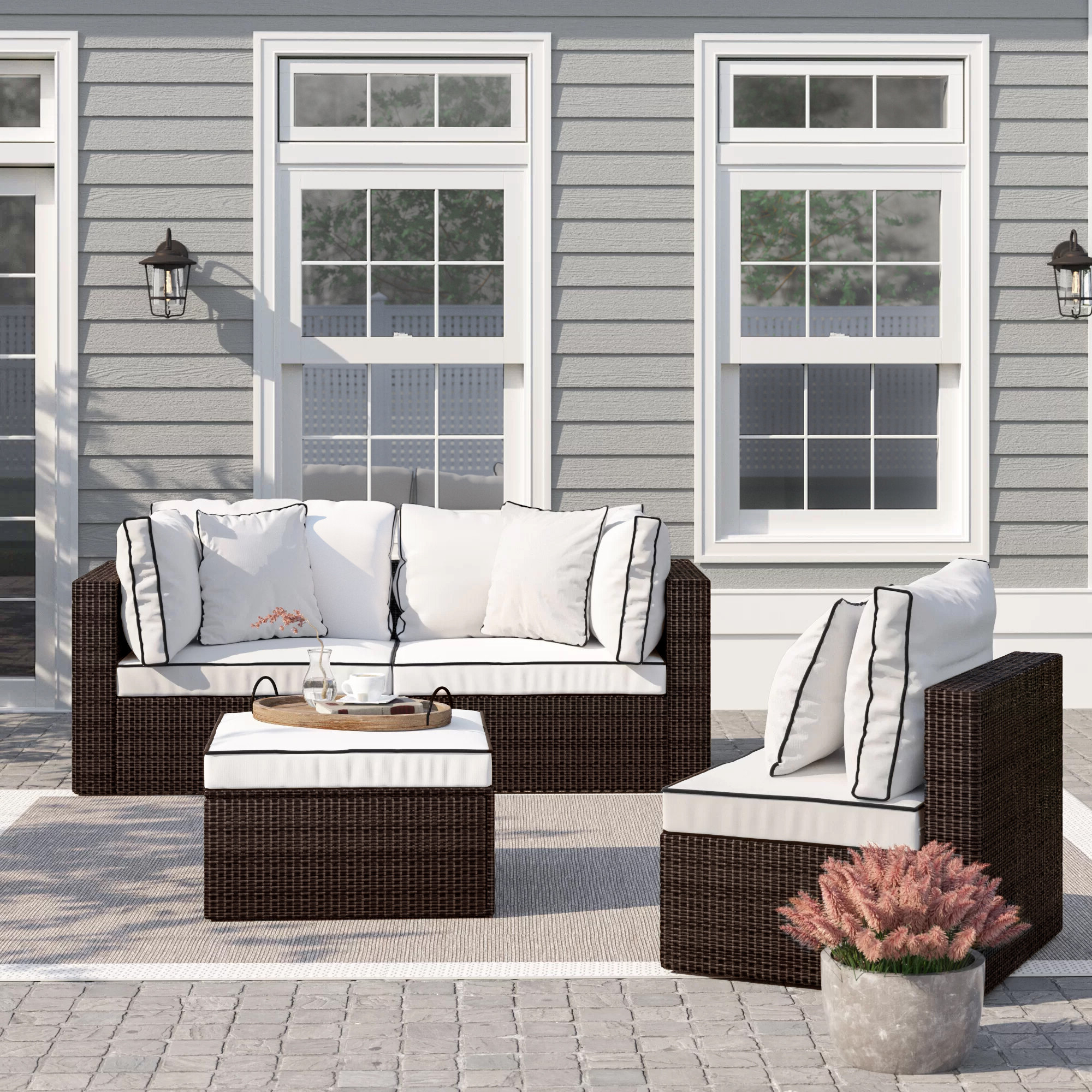 Burruss Patio Sectional With Cushions Within 2020 Lawson Patio Sofas With Cushions (View 25 of 25)