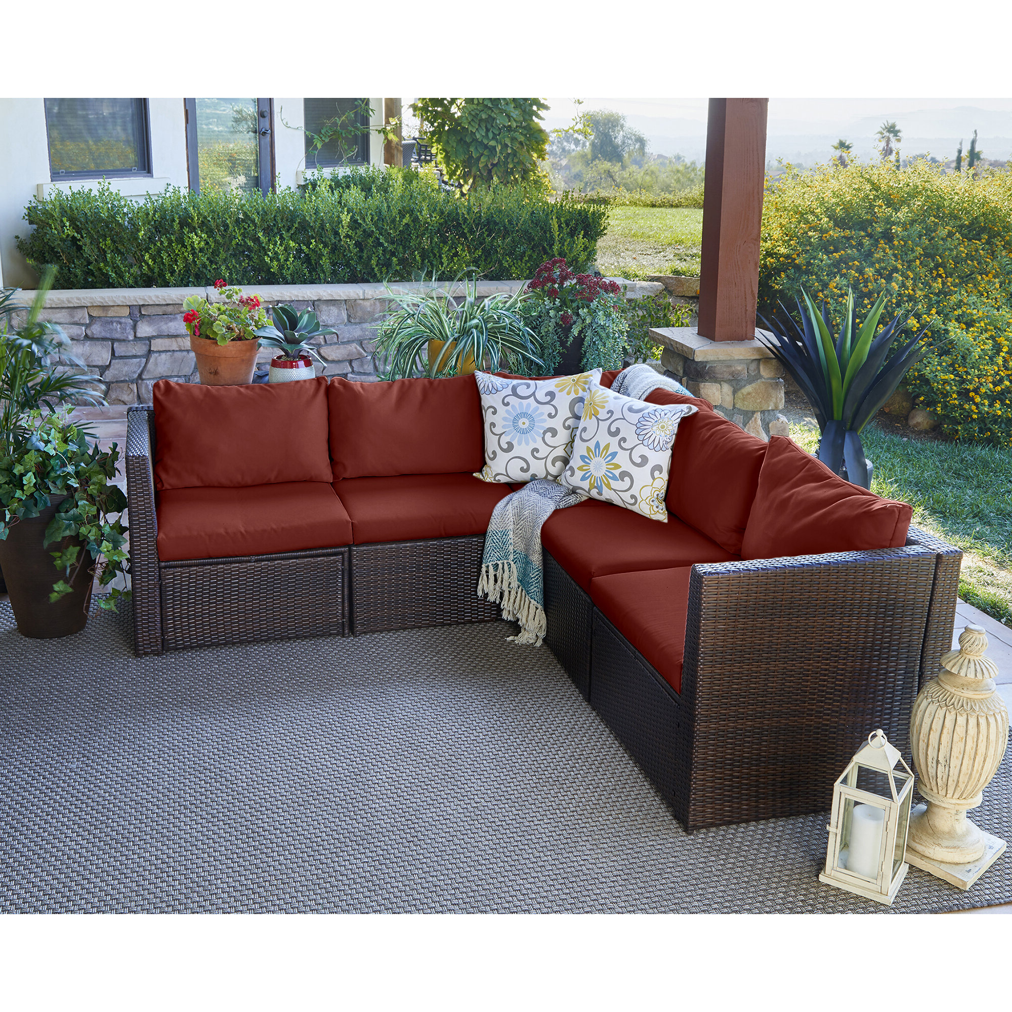 Burruss Patio Sectionals With Cushions Pertaining To Most Up To Date Larsen Patio Sectional With Cushions (Gallery 10 of 25)