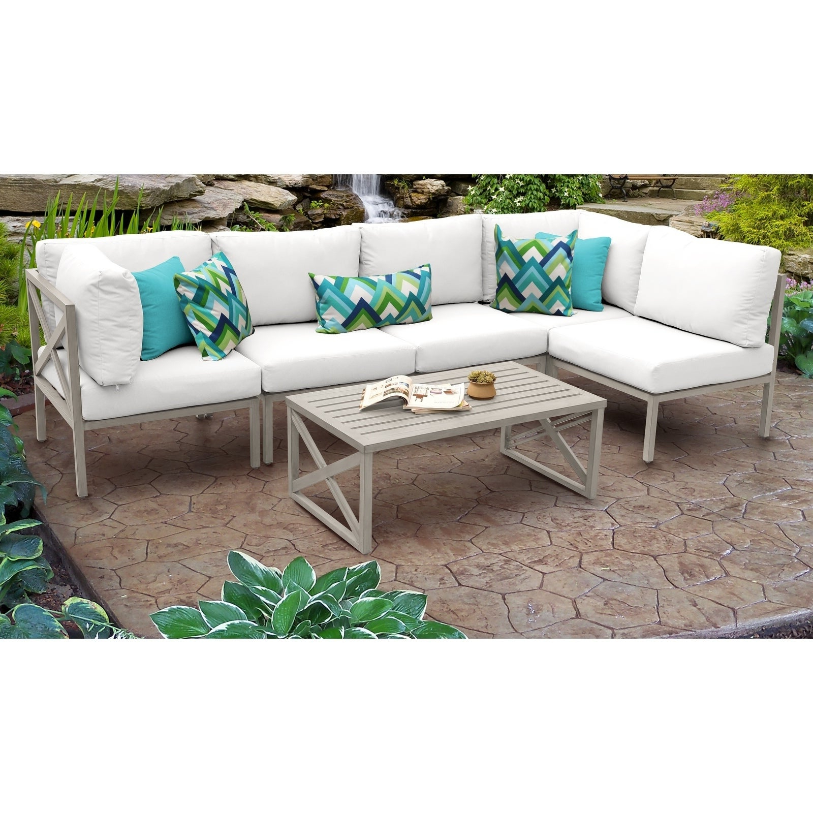 Carlisle 6 Piece Outdoor Wicker Patio Furniture Set 06A With Regard To Preferred Carlisle Patio Sofas With Cushions (View 3 of 25)