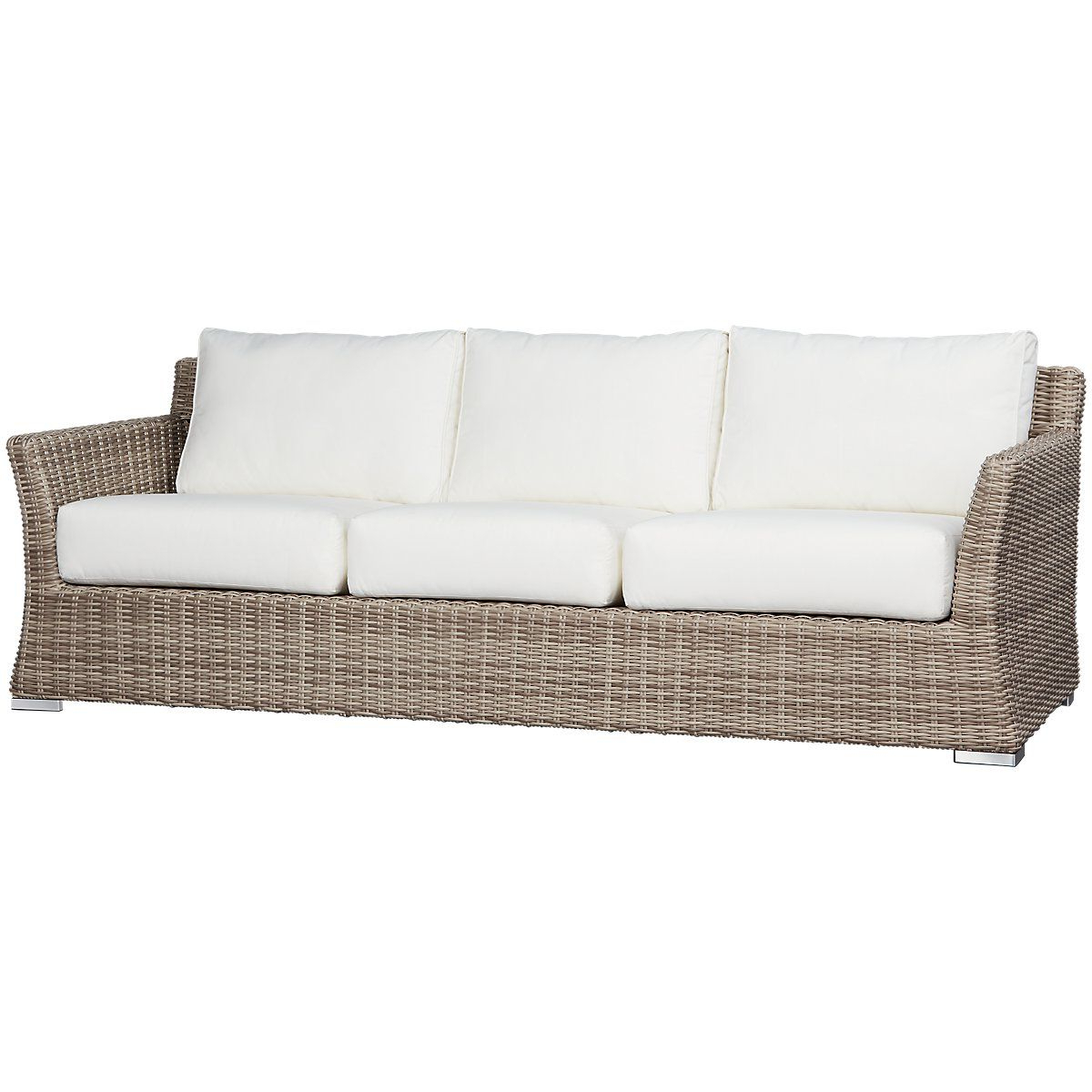 Casa Bella Newlyweds In 2019 With Regard To Latest Astrid Wicker Patio Sofas With Cushions (View 8 of 25)