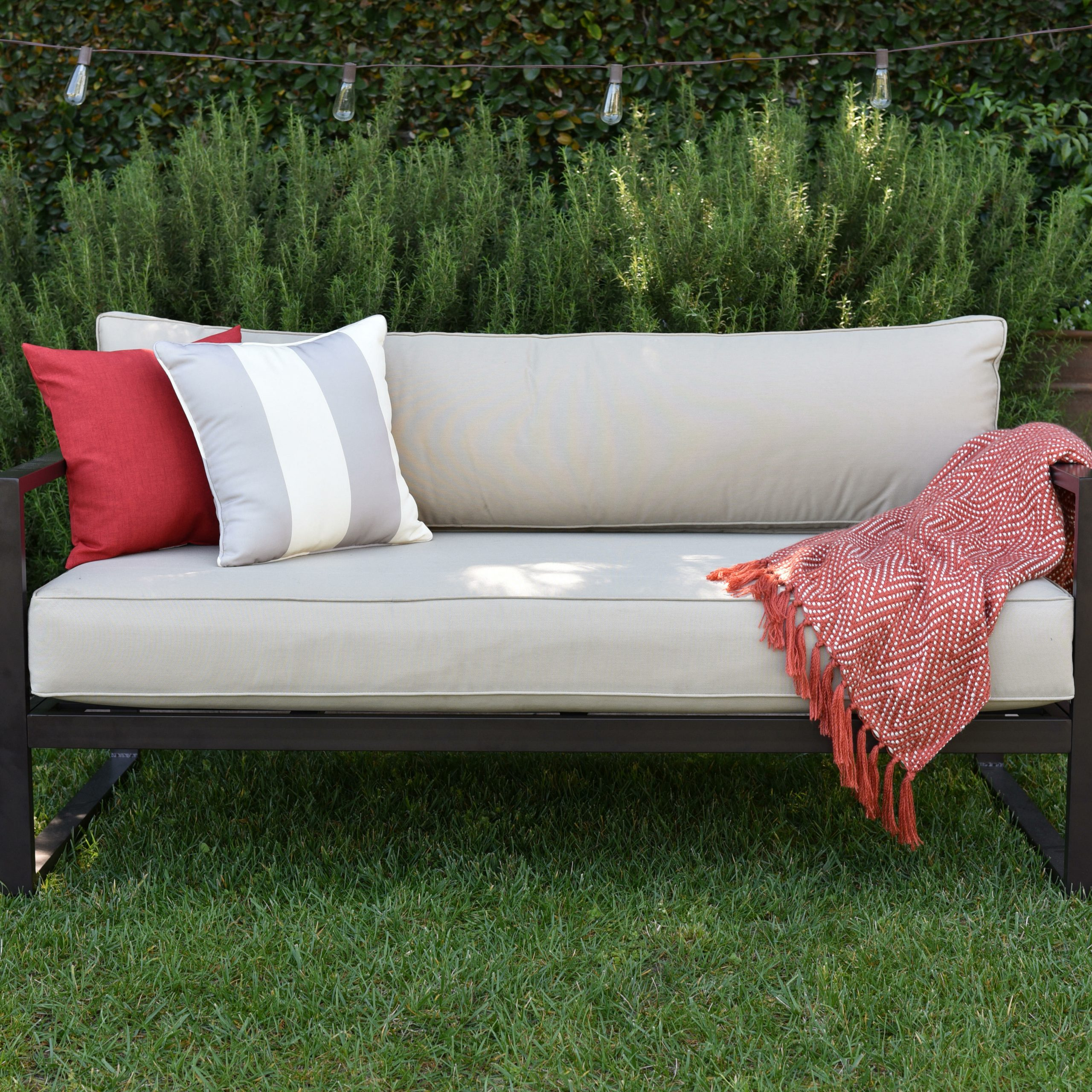 Catalina Outdoor Right Arm Sectional Pieces With Cushions In Widely Used Catalina Outdoor Sofa With Cushions (View 7 of 25)
