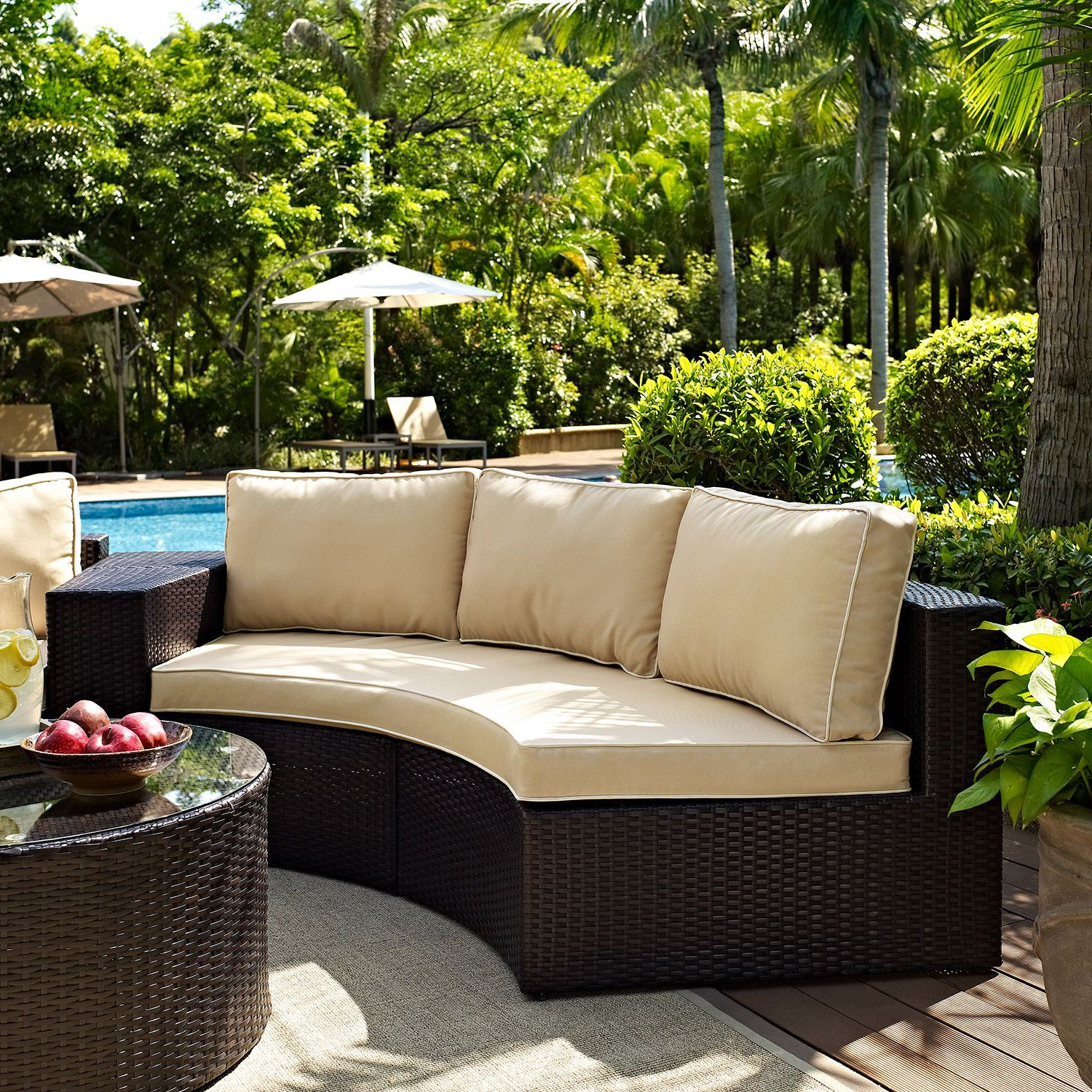 Catalina Outdoor Sofas With Cushions With Fashionable Catalina Outdoor Sofa, Brown *d (View 4 of 11)