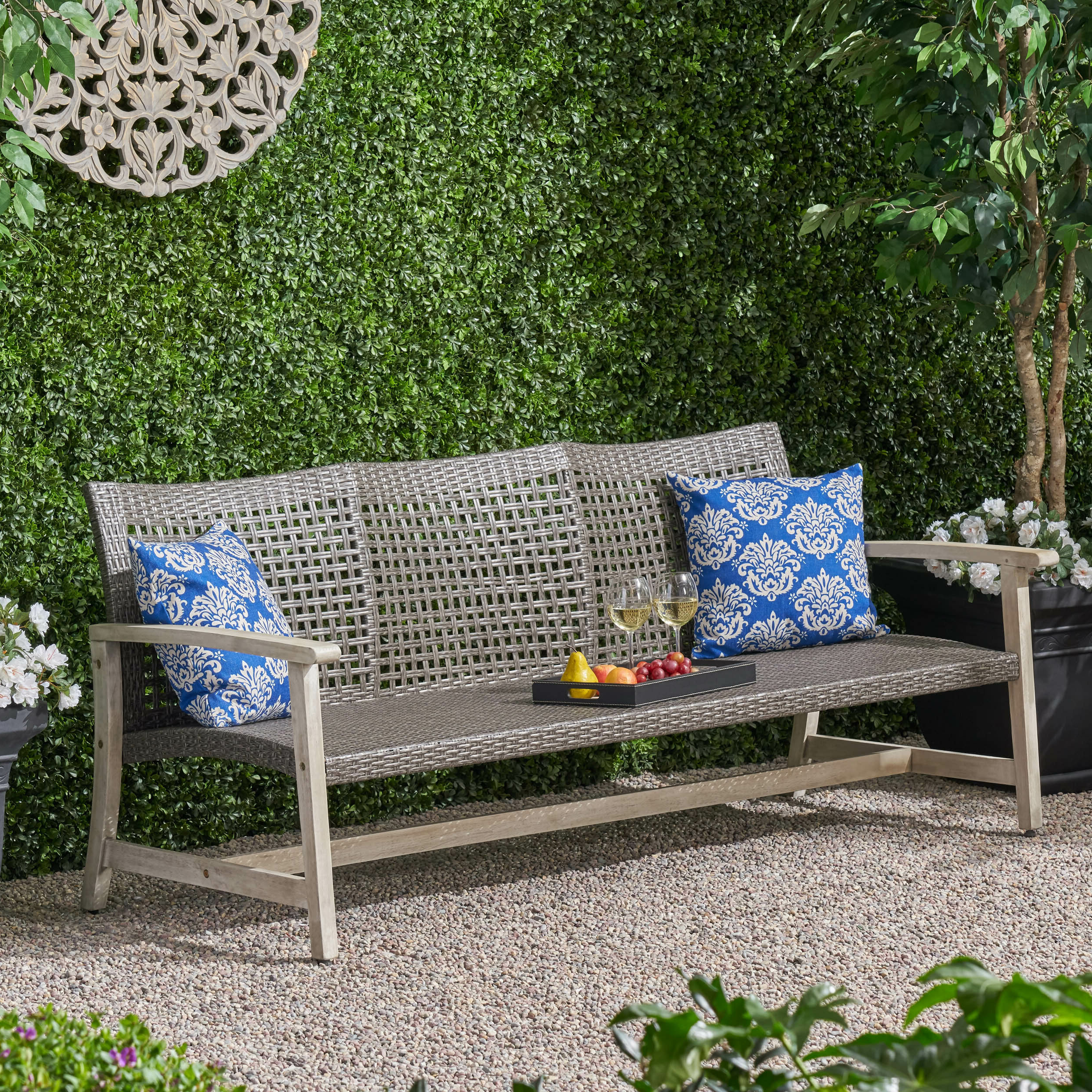 Clemens Patio Sofa With Most Recent Honeycutt Patio Sofas With Cushions (View 12 of 25)