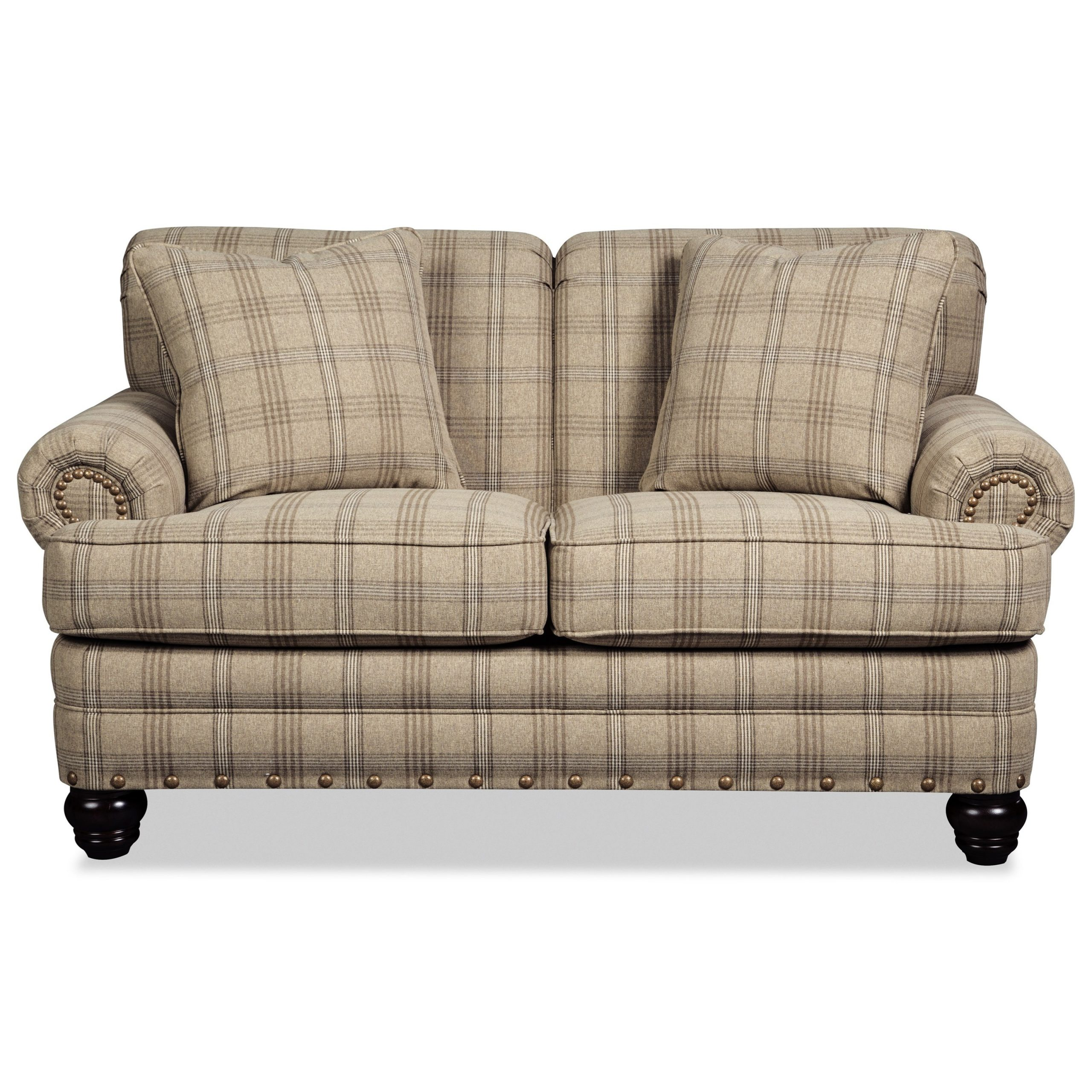 Craftmaster 7281 Traditional Loveseat With Rolled Arms And Pertaining To Favorite Van Dyke Loveseats (View 23 of 25)