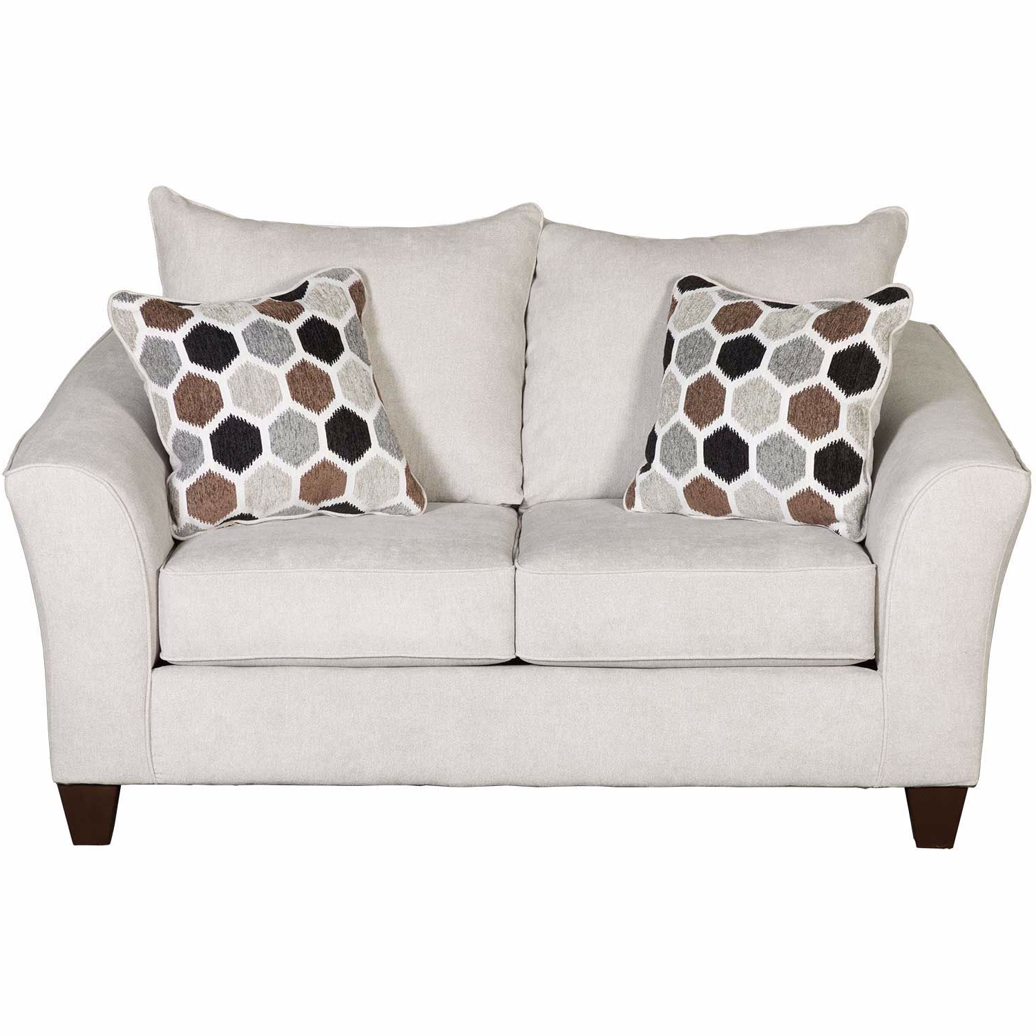 Current Dayse Contemporary Loveseats With Cushion Regarding Anna Loveseat (View 7 of 25)