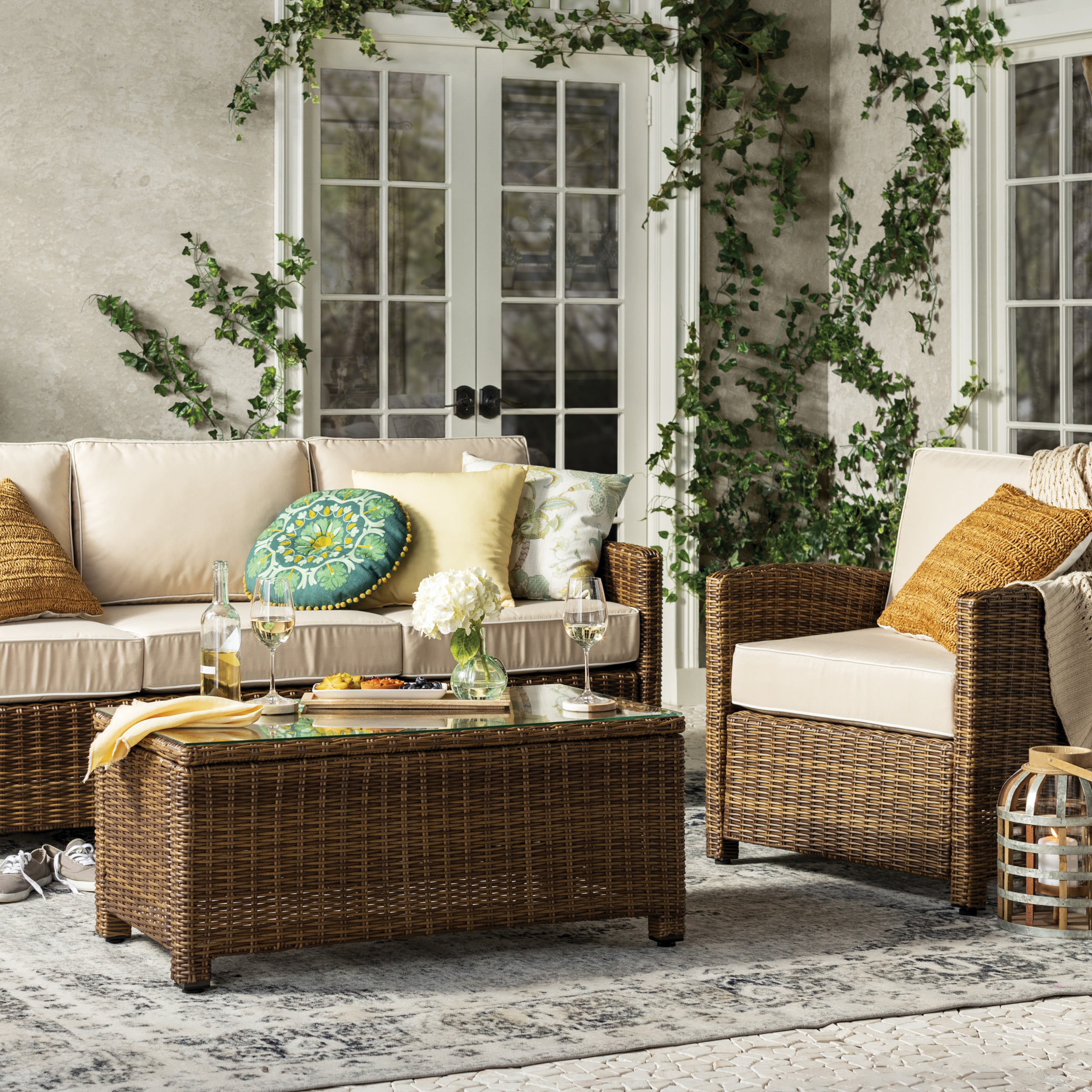 Current Farmhouse & Rustic Outdoor Sofas & Seating (View 23 of 25)