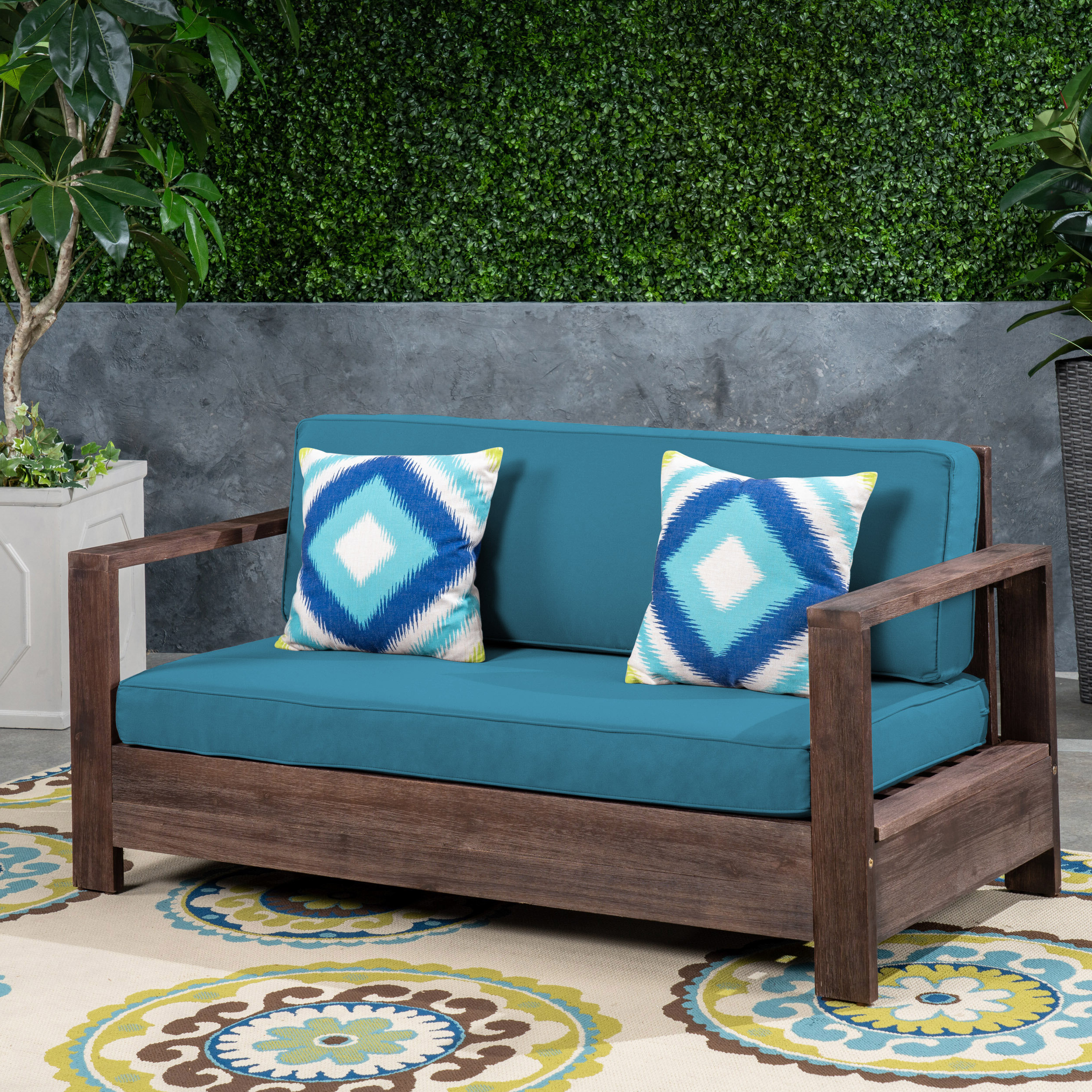 Featured Photo of Landis Loveseats With Cushions