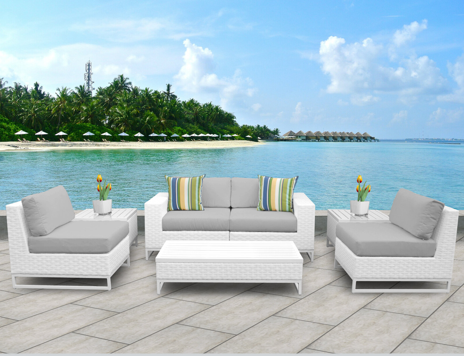 Current Menifee Patio Sofas With Cushions With Regard To Menifee 7 Piece Sofa Set With Cushions (View 4 of 25)