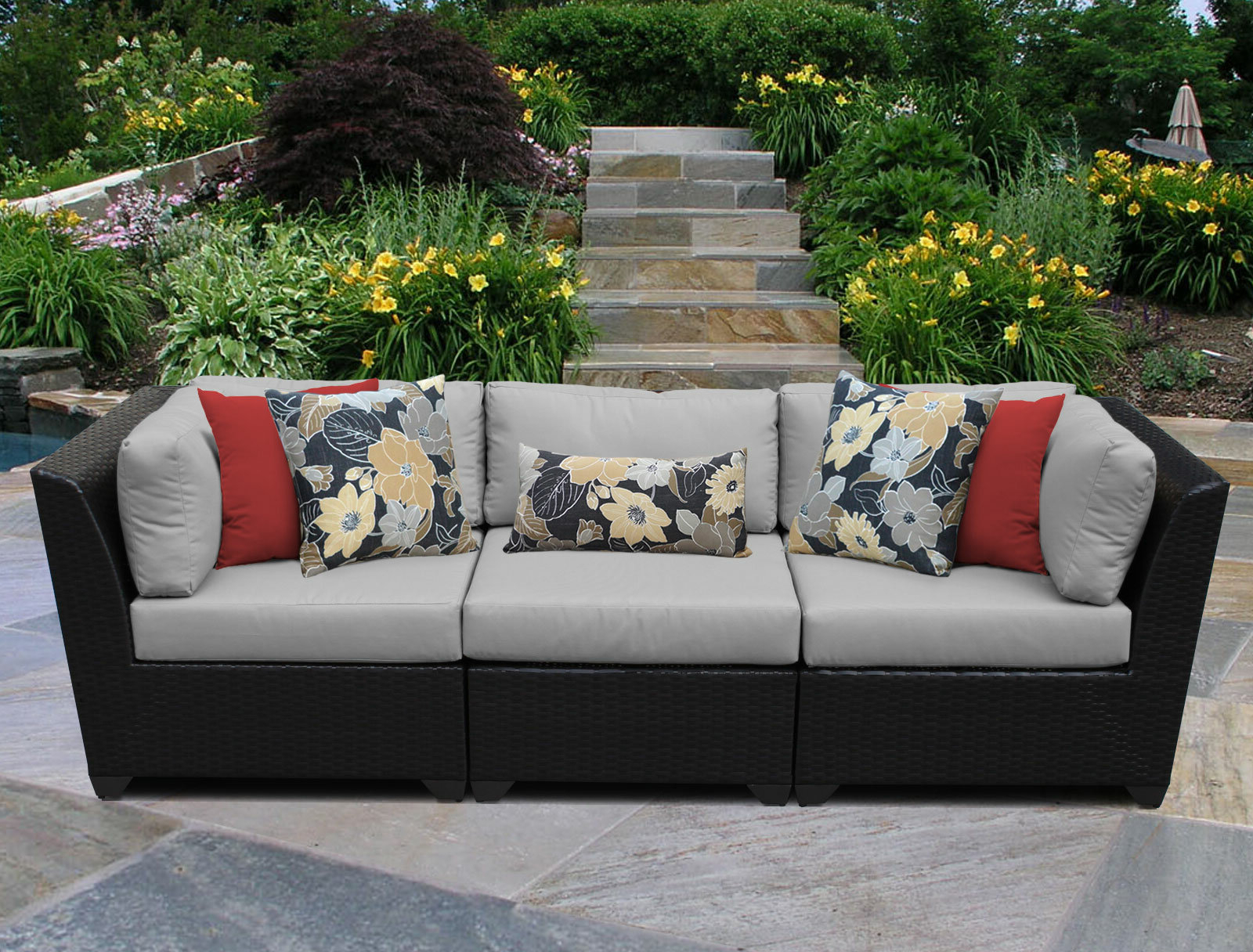 Current Tegan Patio Sofas With Cushions For Tegan Patio Sofa With Cushions (View 3 of 25)
