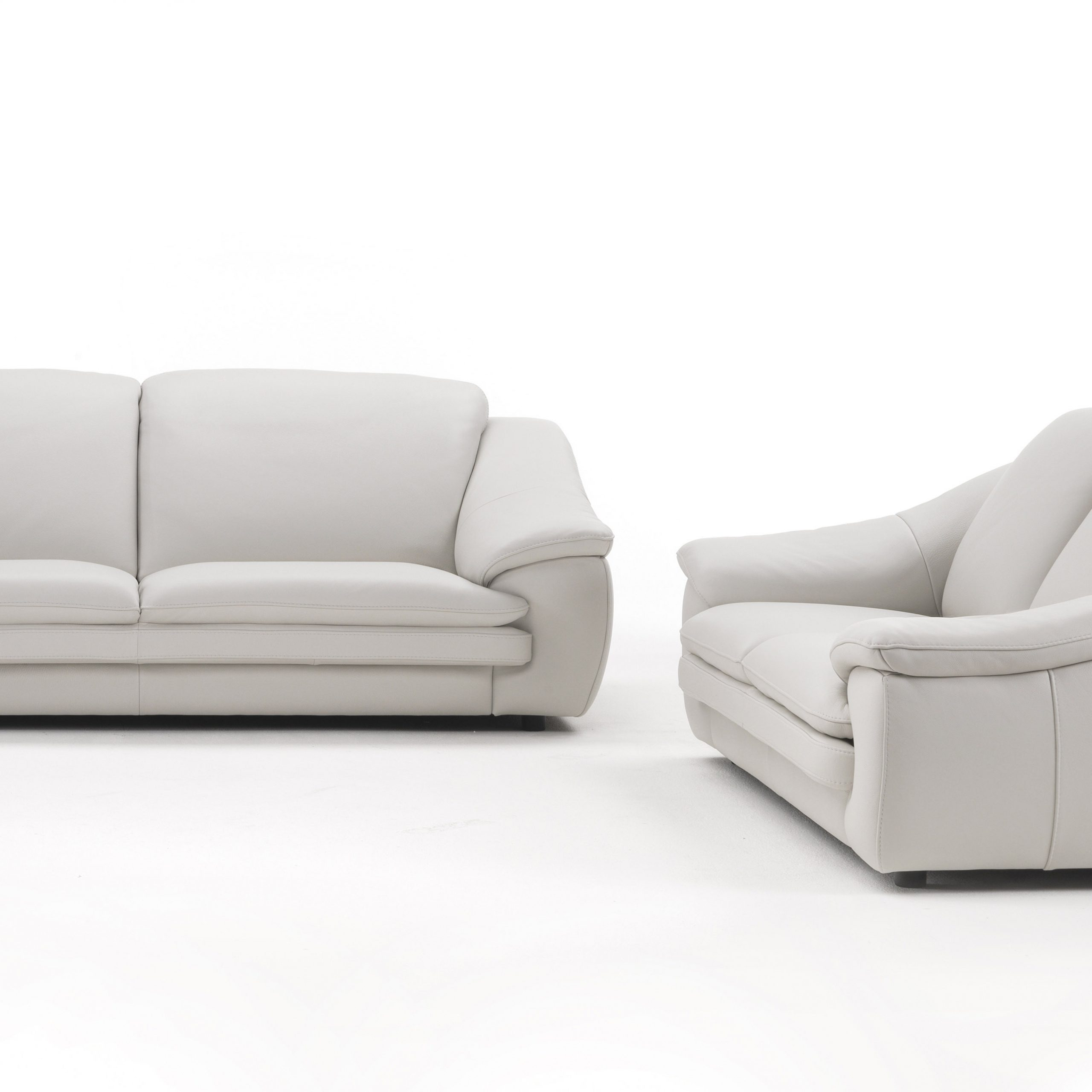Dayse Contemporary Loveseats With Cushion With Best And Newest Contemporary Leather Sofa Set With Padded Arms And Cushions (View 21 of 25)