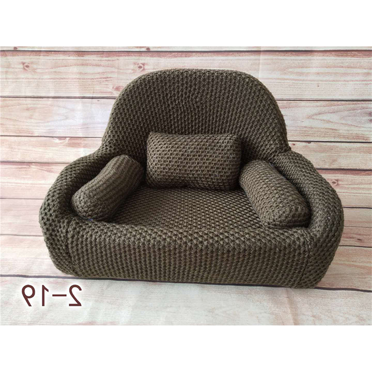 Details Zu Newborn Baby Photo Props Small Sofa Seat With 3 Cushions Photography Pose Shoot In Most Current Tripp Sofas With Cushions (View 19 of 25)