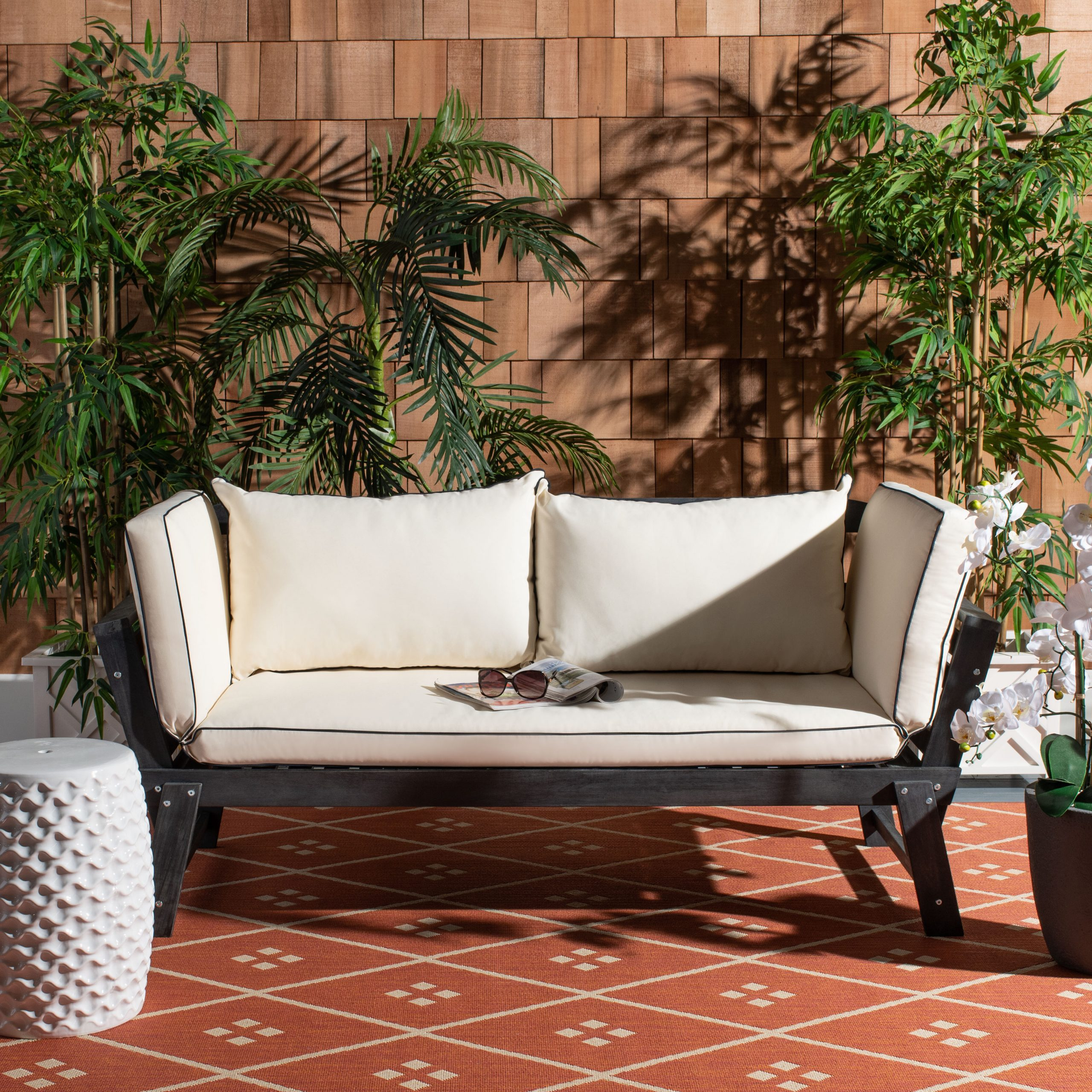 Dowling Patio Daybeds With Cushion For Widely Used Birch Lane™ Heritage Beal Patio Daybed With Cushions (View 16 of 25)