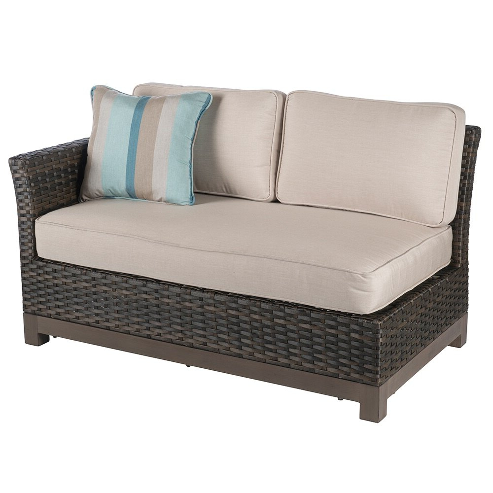 Eibhlin 2 Piece Left/right Sectional Piece With Cushions Pertaining To 2019 Hagler Outdoor Loveseats With Cushions (View 22 of 25)