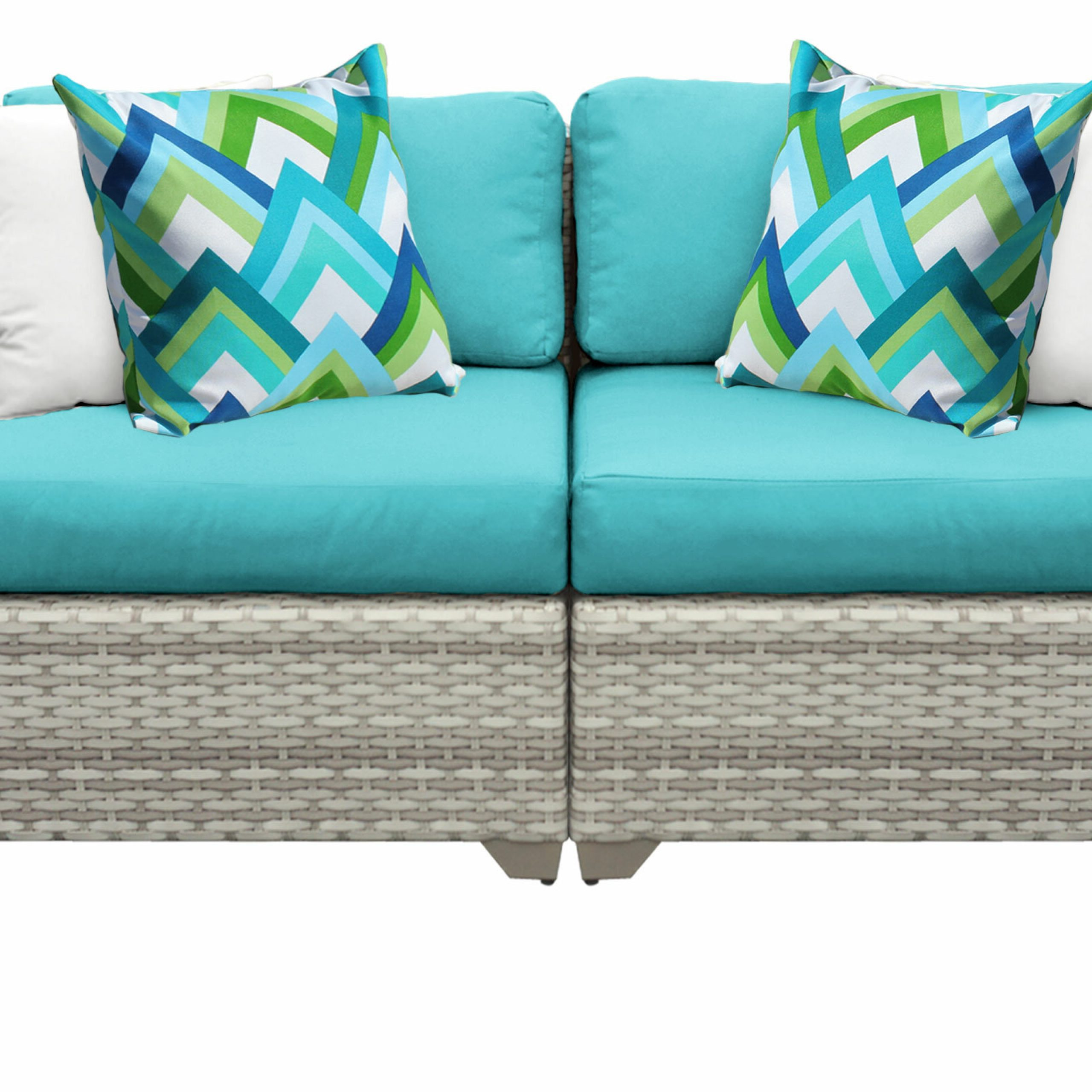 Falmouth Loveseat With Cushions Within Most Recently Released Lawson Wicker Loveseats With Cushions (View 19 of 25)