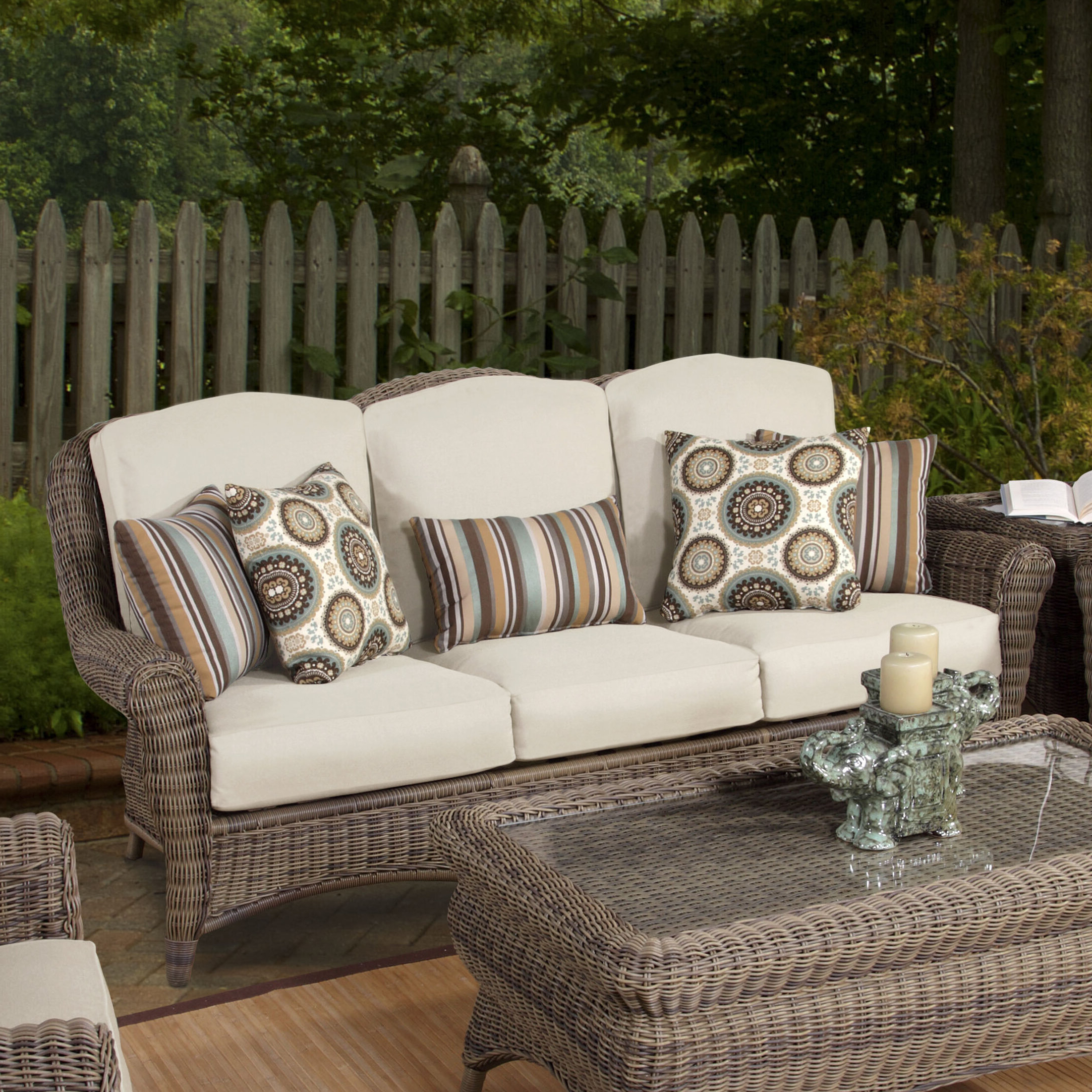 Famous Fannin Patio Sofas With Cushions In Provence Sofa With Cushions (View 15 of 25)