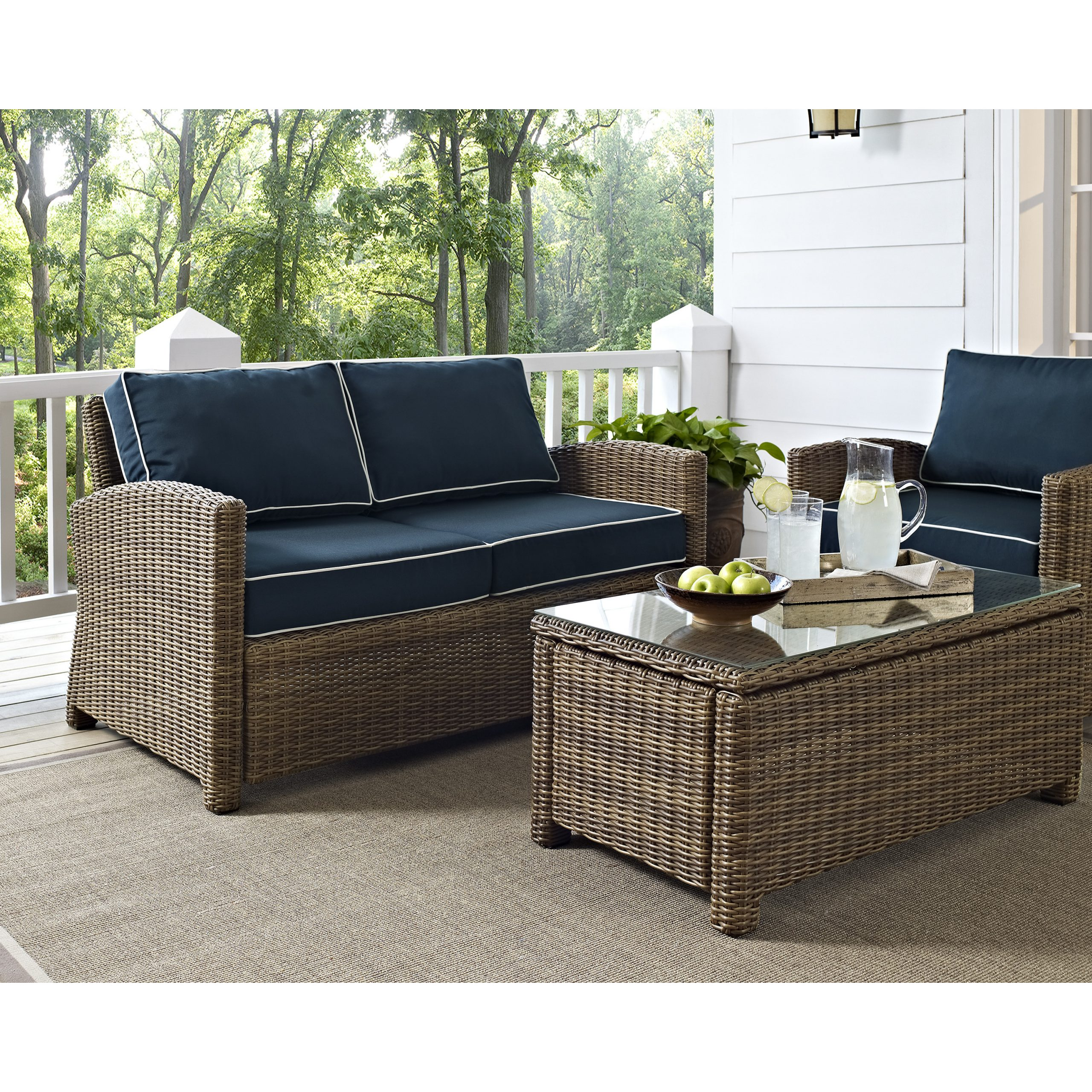 Famous Furniture: Mesmerizing Wicker Loveseat For Outdoor Or Indoor Intended For Lawson Wicker Loveseats With Cushions (View 11 of 25)