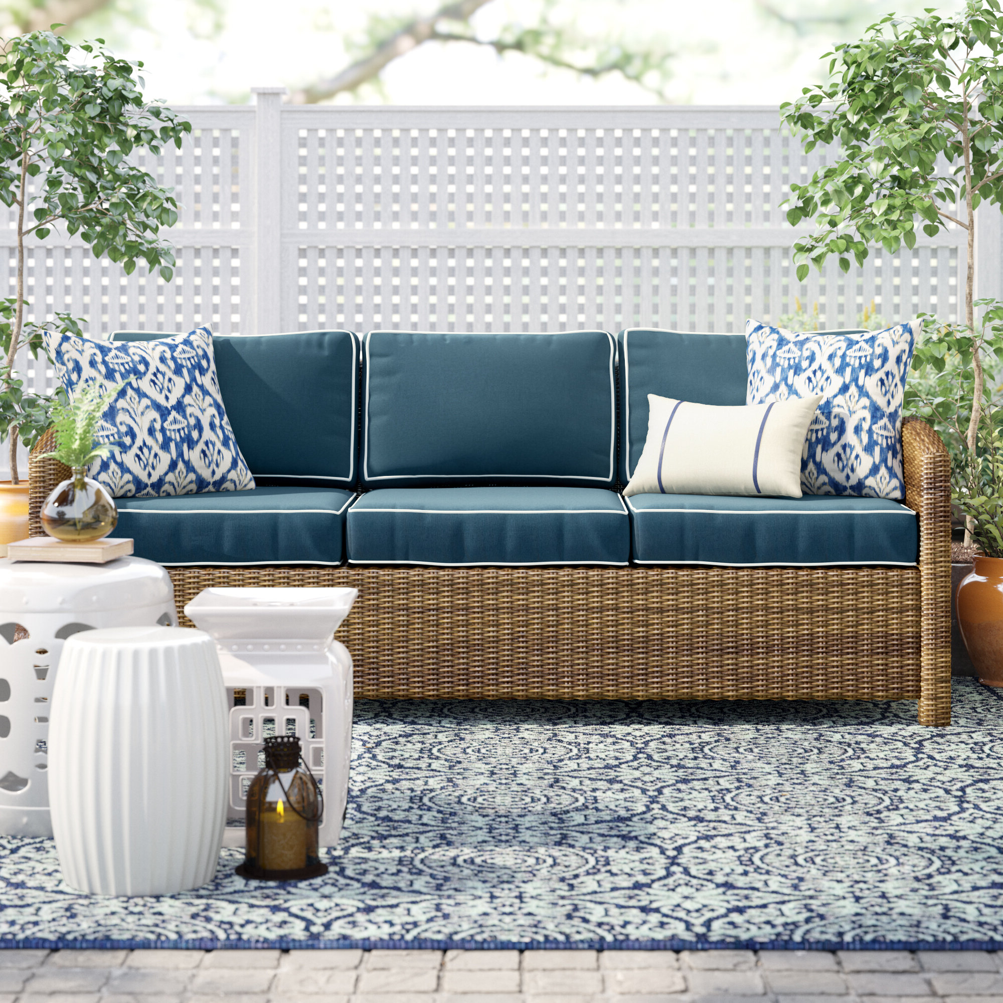 Famous Lawson Patio Sofa With Cushions With Lawson Wicker Loveseats With Cushions (View 16 of 25)