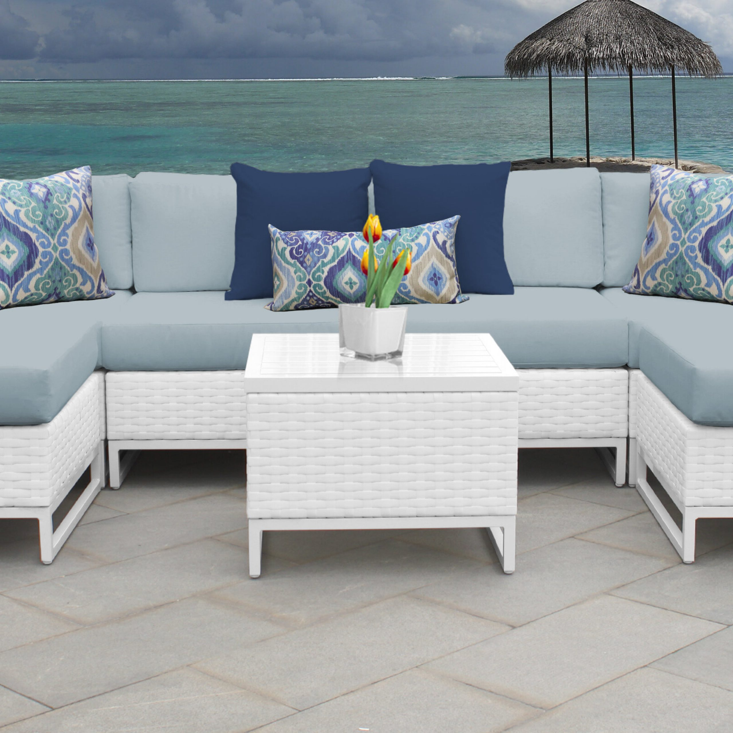 Famous Menifee Patio Sofas With Cushions With Regard To Menifee 7 Piece Sectional Seating Group With Cushions (View 5 of 25)