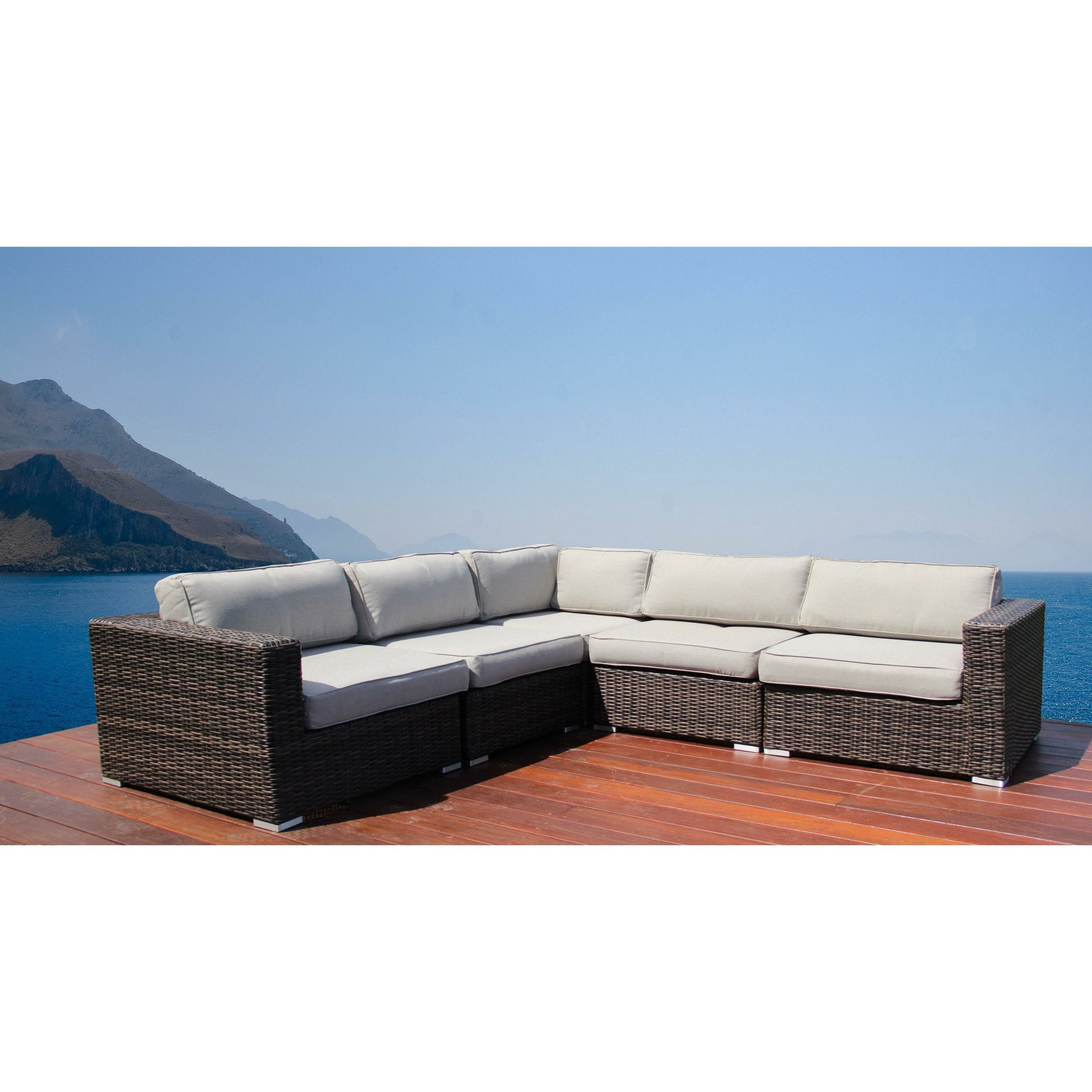 Famous Ostrowski Patio Sectionals With Cushions Throughout Nolen Patio Sectional With Cushions (View 8 of 25)