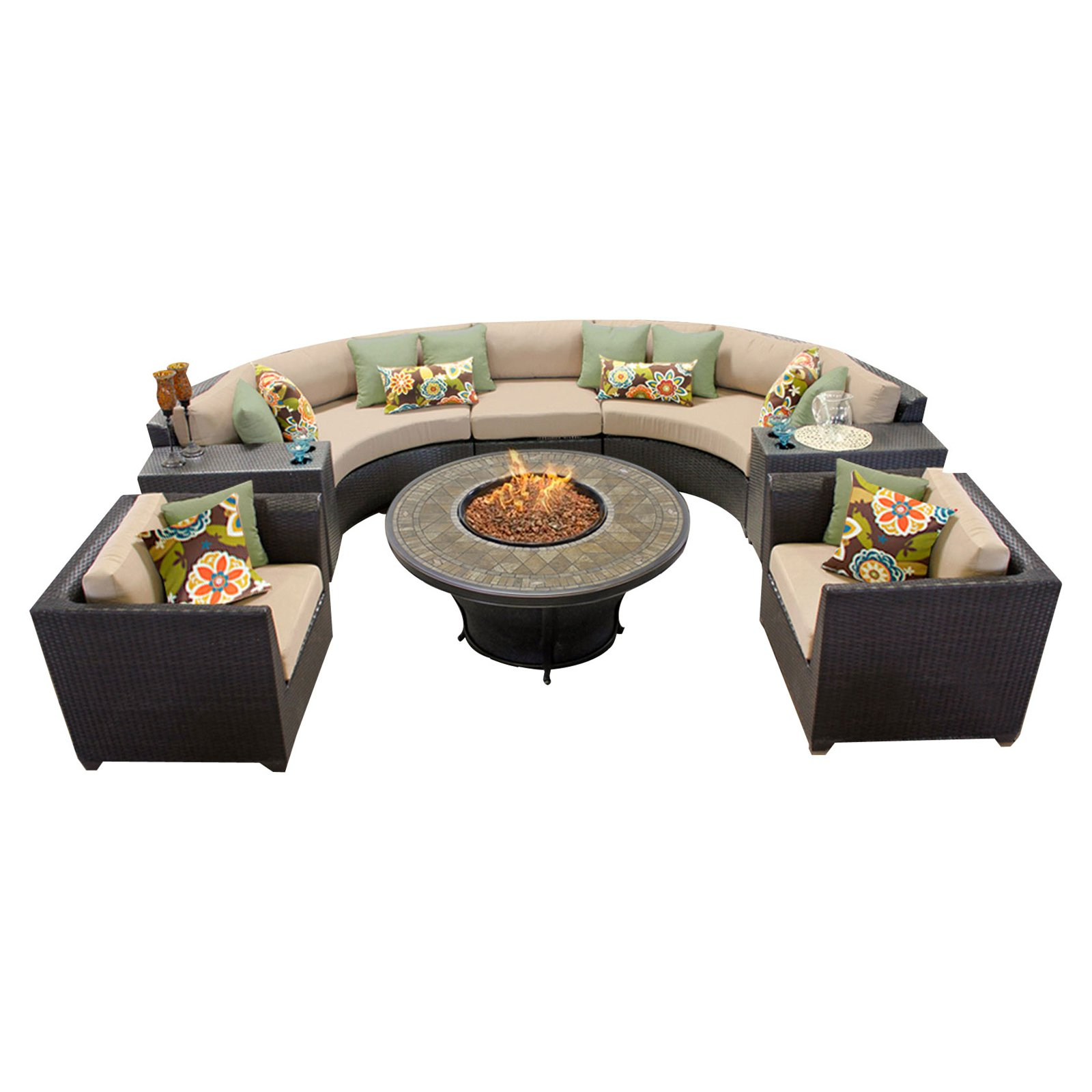 Famous Tegan Patio Sofas With Cushions Within Sol 72 Outdoor Tegan 8 Piece Sectional Seating Group With (View 20 of 25)