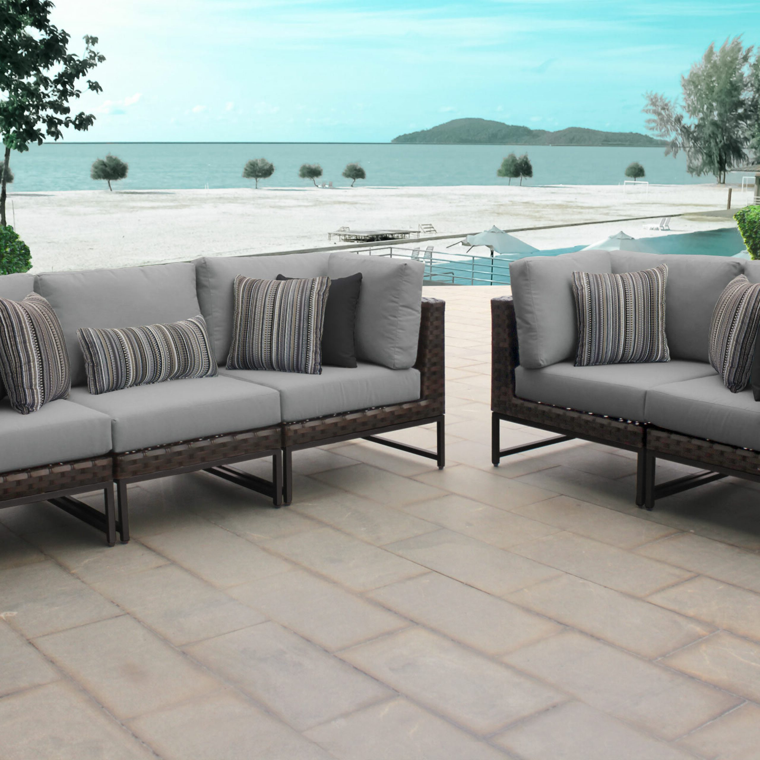 Fannin Patio Sofas With Cushions For Recent Mcclurg Patio Sofa With Cushions (View 3 of 25)
