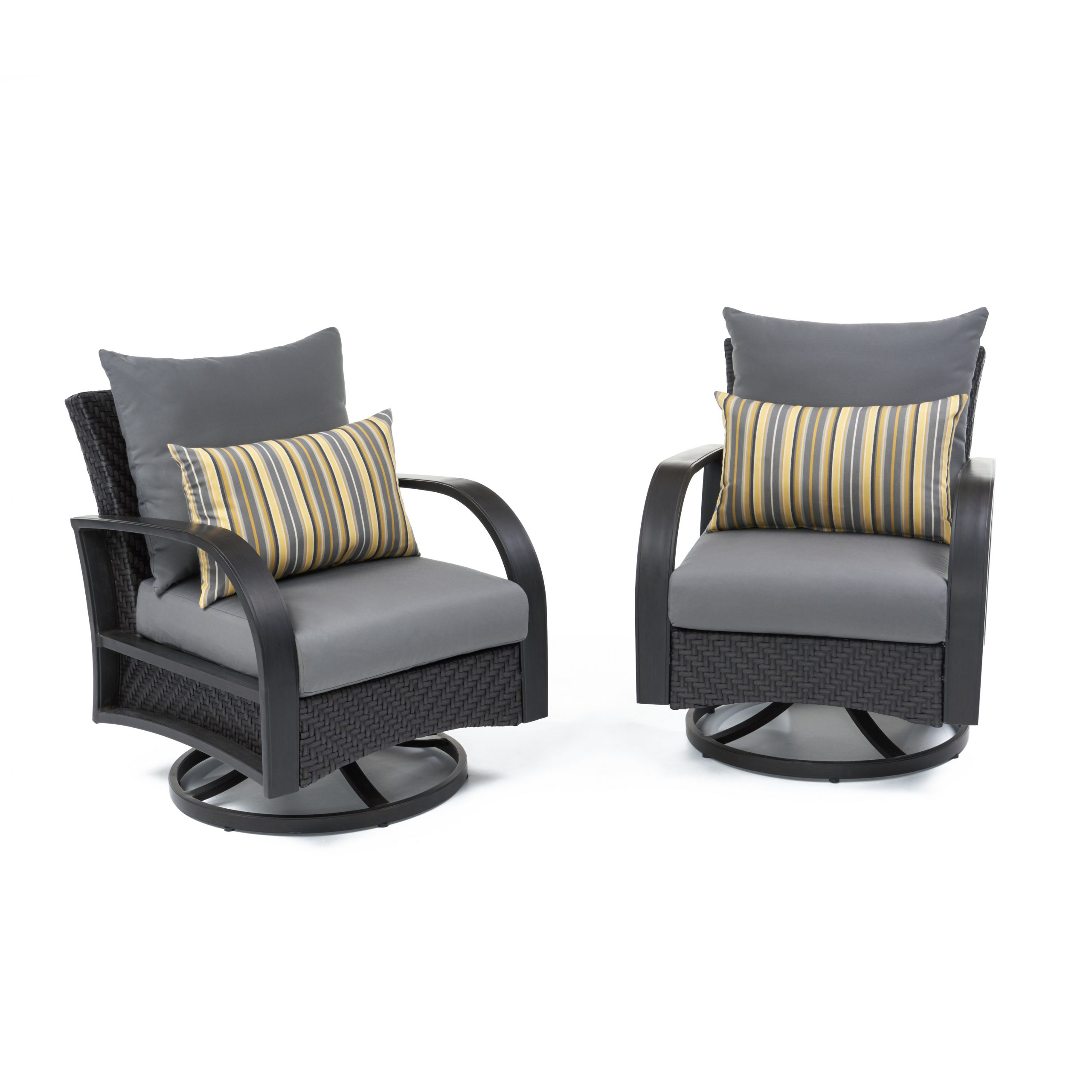 Fannin Patio Sofas With Cushions In Widely Used Cerralvo Swivel Patio Chair With Sunbrella Cushions (View 12 of 25)
