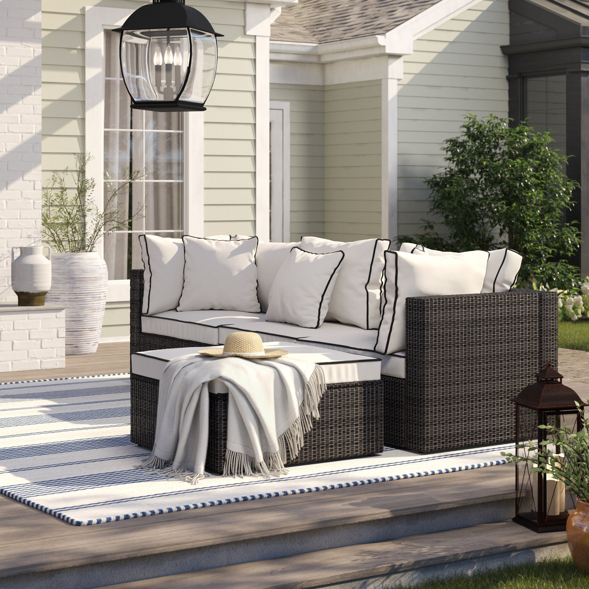 Fashionable Burruss Patio Sectional With Cushions Inside Burruss Patio Sectionals With Cushions (View 6 of 25)
