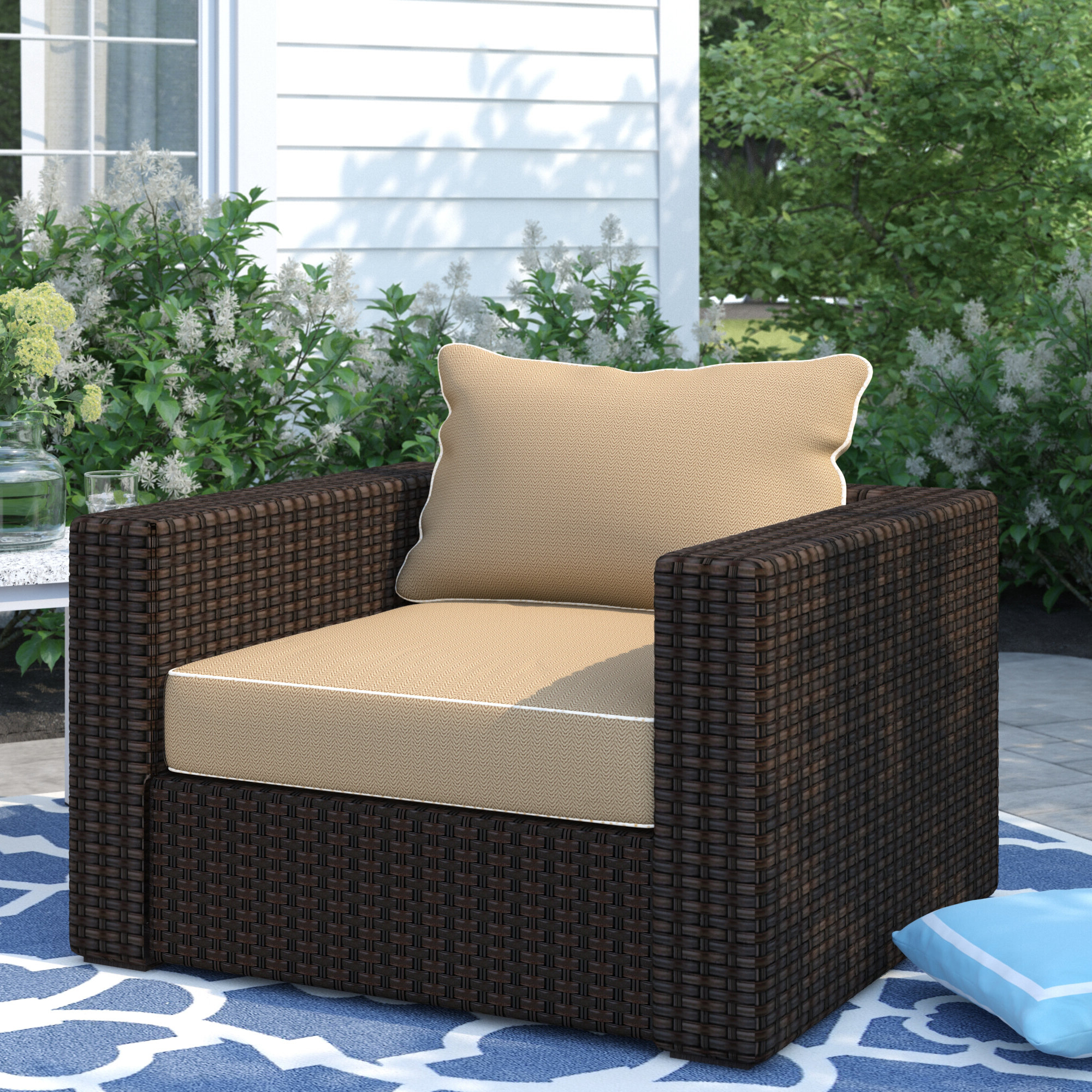 Fashionable Dante Patio Chair With Cushions With Repp Patio Sofas With Cushion (View 20 of 25)