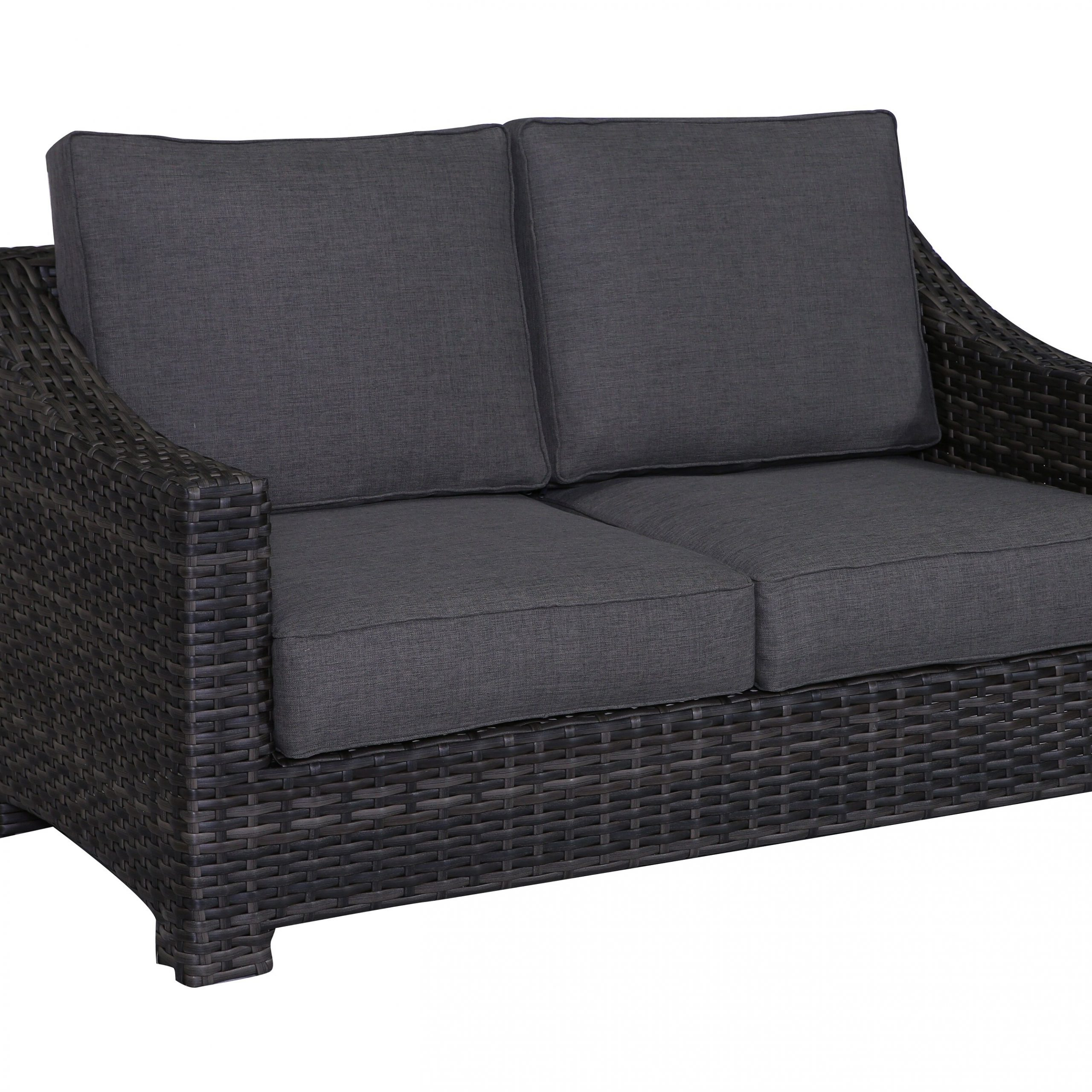 Fashionable Donley Loveseat With Cushions For Oceanside Outdoor Wicker Loveseats With Cushions (View 4 of 25)