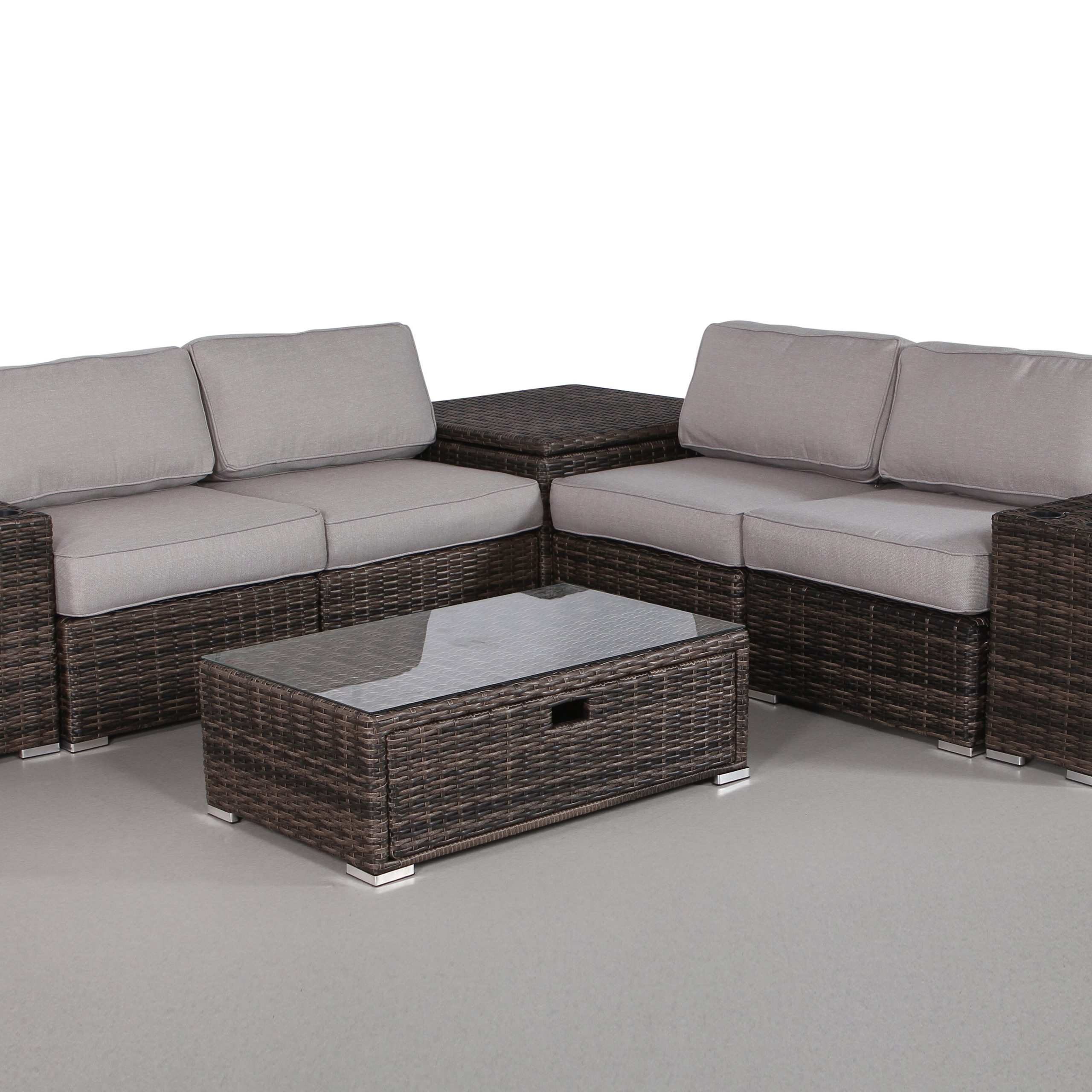 Fashionable Eldora Patio Sectionals With Cushions With Regard To Eldora 8 Piece Sectional Set With Cushions (View 4 of 25)