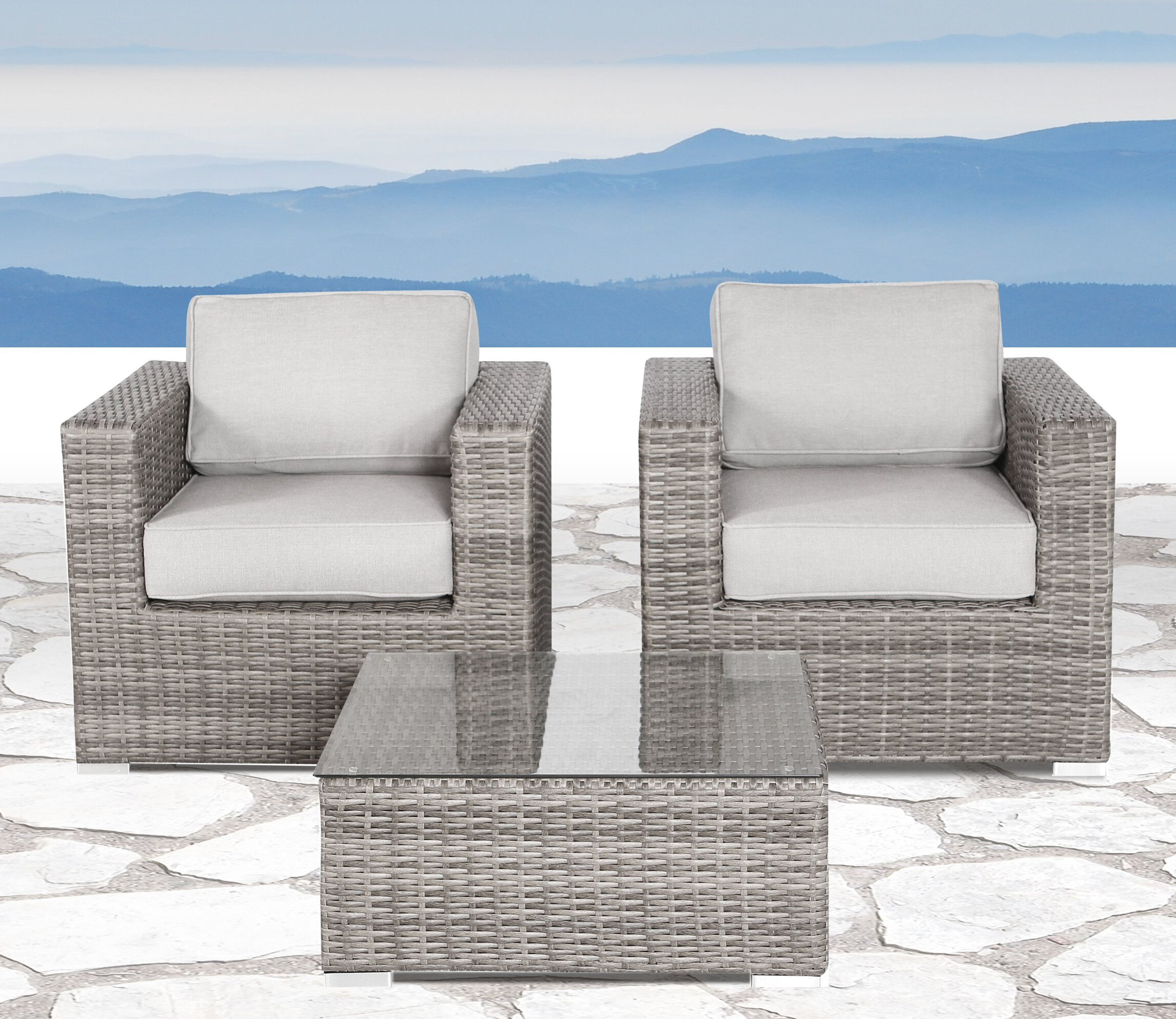 Favorite Deandra Loveseats With Cushions With Deandra 3 Piece Seating Group With Cushions (View 12 of 25)