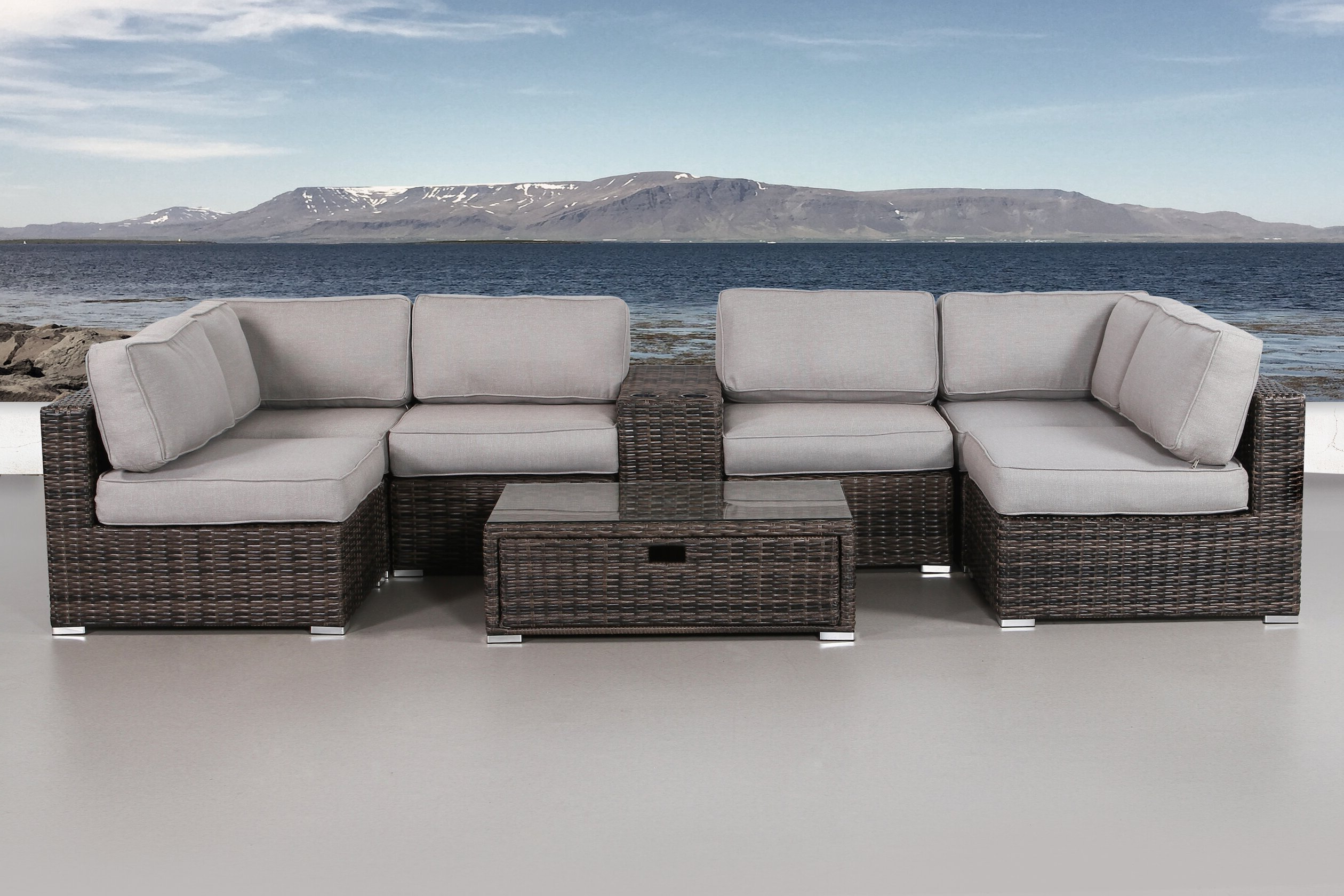 Favorite Eldora 8 Piece Sectional Set With Cushions In Eldora Patio Sectionals With Cushions (View 3 of 25)