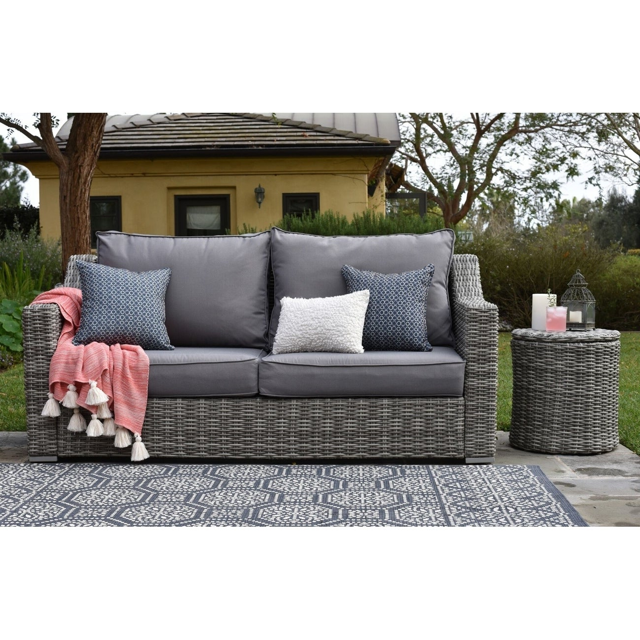 Favorite Elle Decor Vallauris Outdoor Sofa For Vallauris Storage Patio Sectionals With Cushions (View 10 of 25)