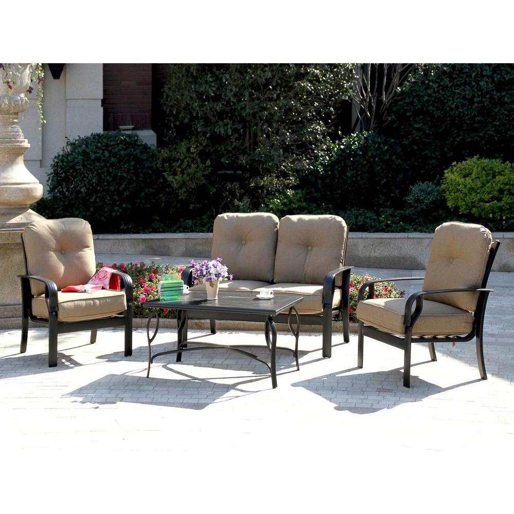 Favorite Sunbrella Patio Set – Home Ideas Throughout 4 Piece Sierra Sunbrella Seating Group (View 19 of 25)