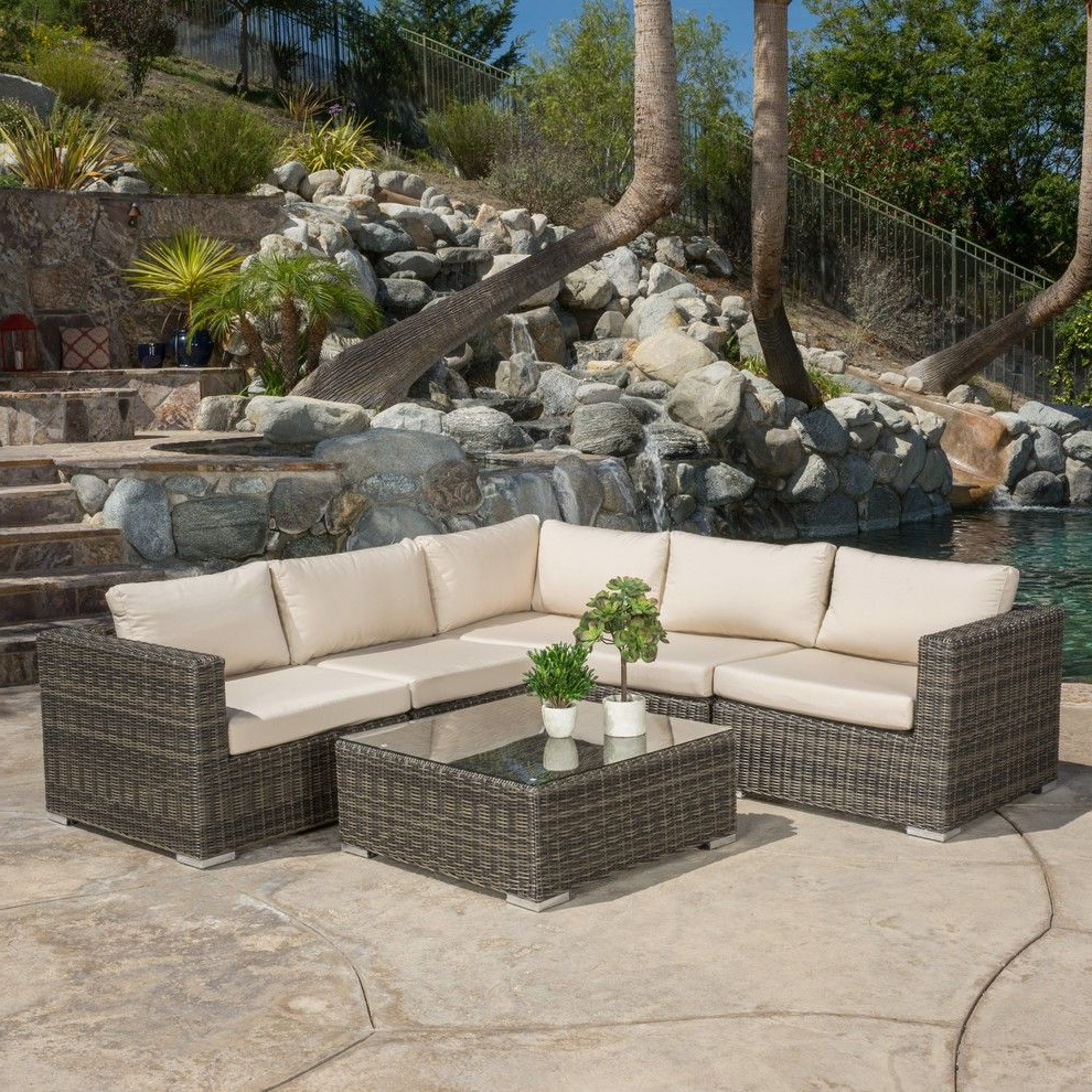 Francisco Outdoor Wicker Seating Sectional With Sunbrella Throughout Most Recently Released Eldora Patio Sectionals With Cushions (View 11 of 25)