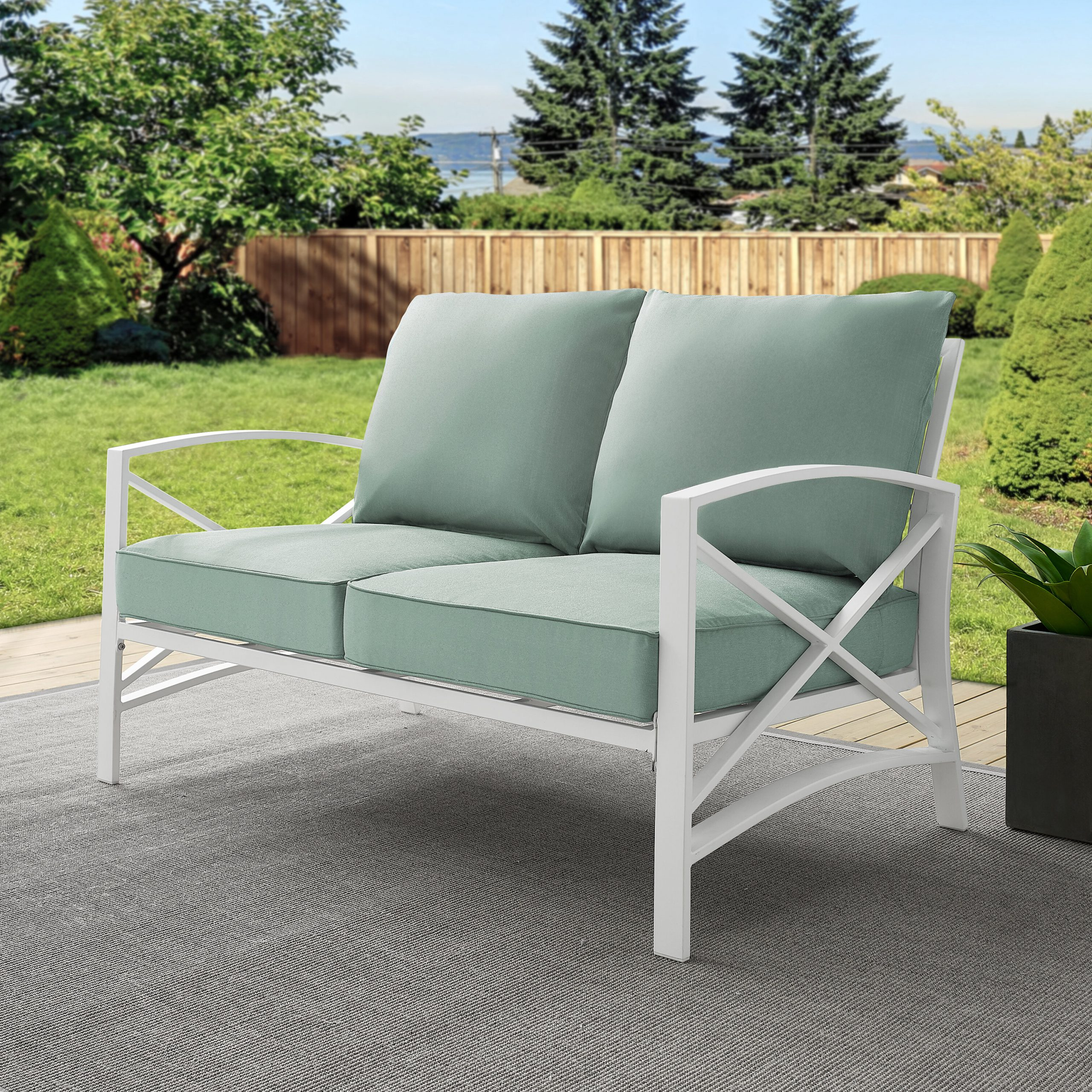 Freitag Loveseat With Cushions With Regard To Recent Hagler Outdoor Loveseats With Cushions (View 10 of 25)