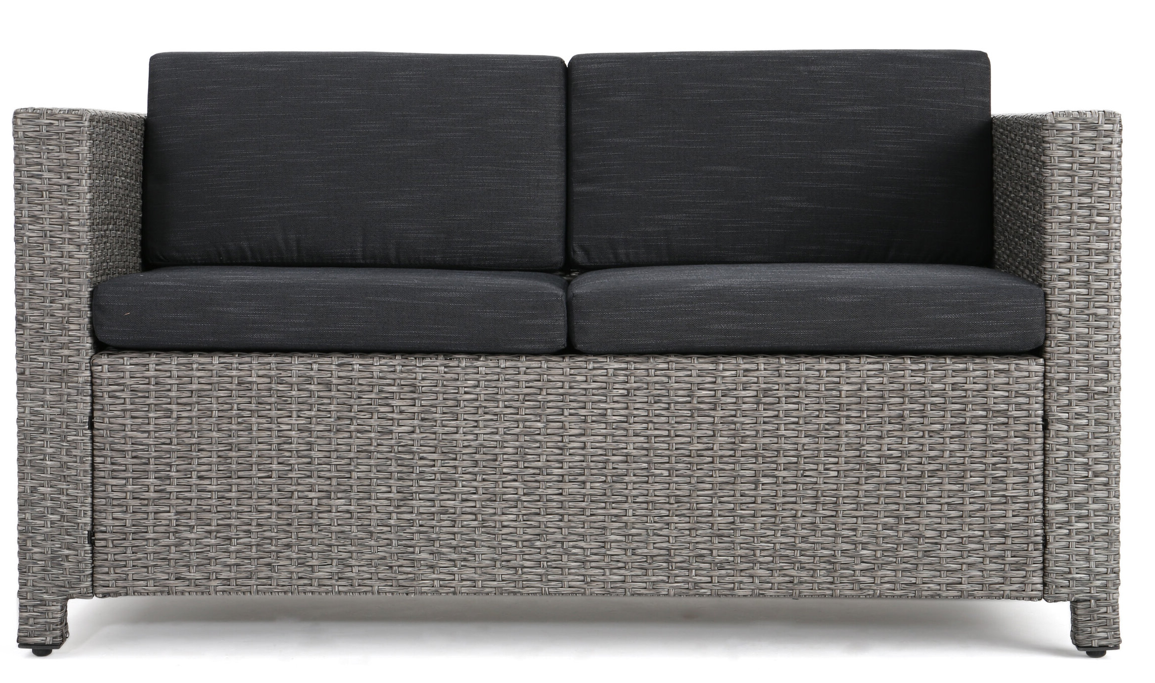 Furst Outdoor Loveseat With Cushions Intended For Popular Dayse Contemporary Loveseats With Cushion (View 15 of 25)