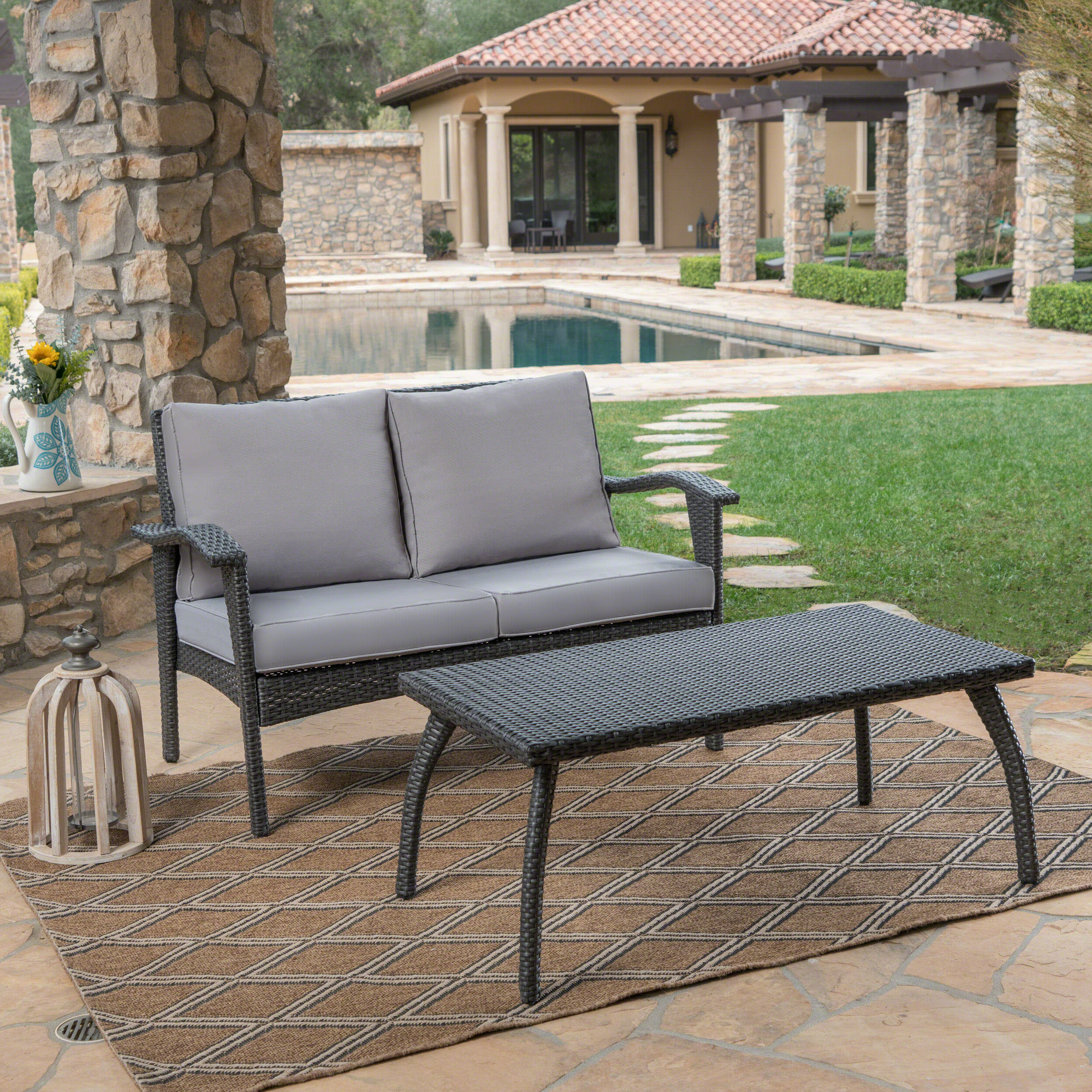 Hagler 2 Piece Sofa Seating Group With Cushions With Regard To Favorite Hagler Outdoor Loveseats With Cushions (View 3 of 25)