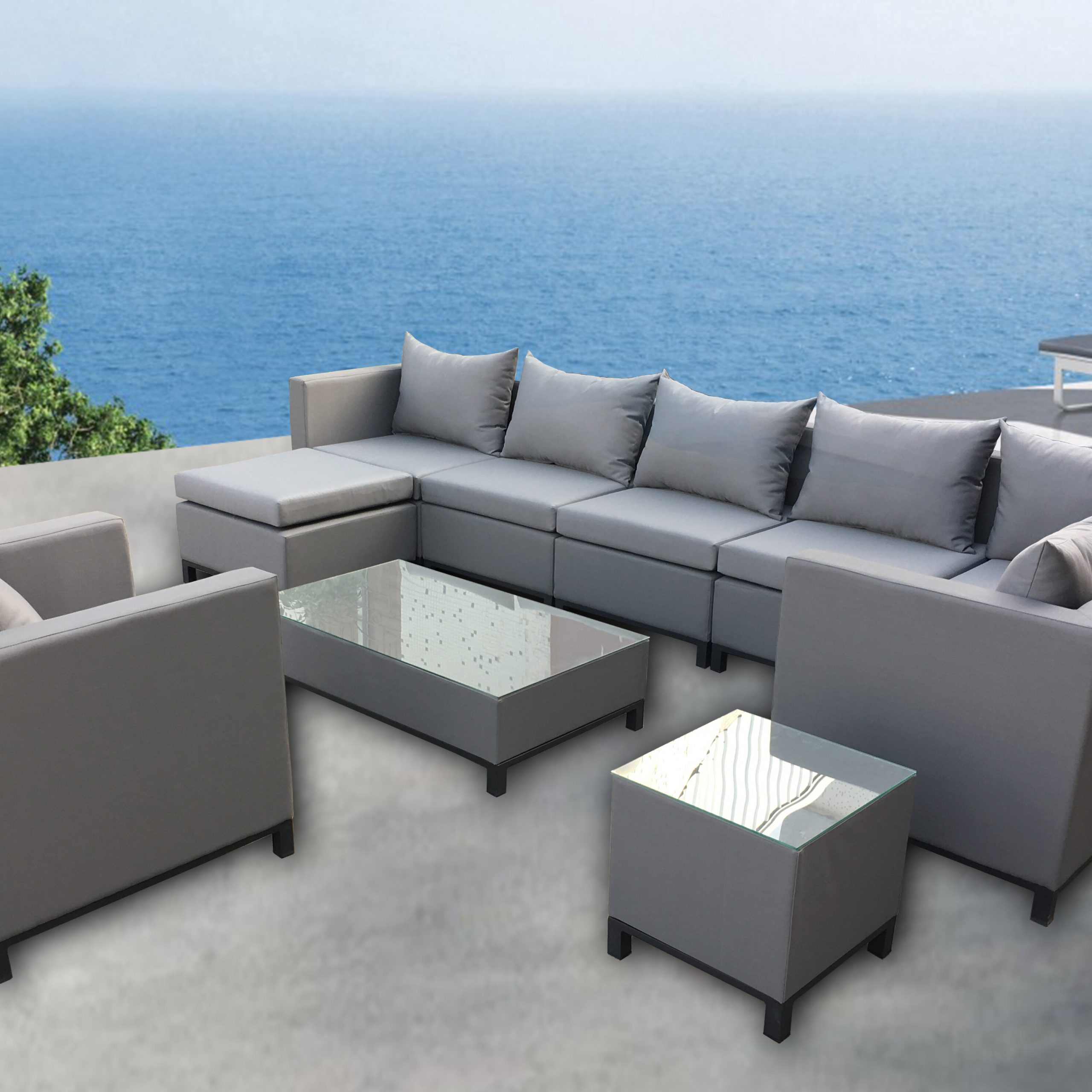 Honeycutt Patio Sofas With Cushions Pertaining To Latest Honeycutt 10 Piece Sectional Set With Cushions (View 8 of 25)