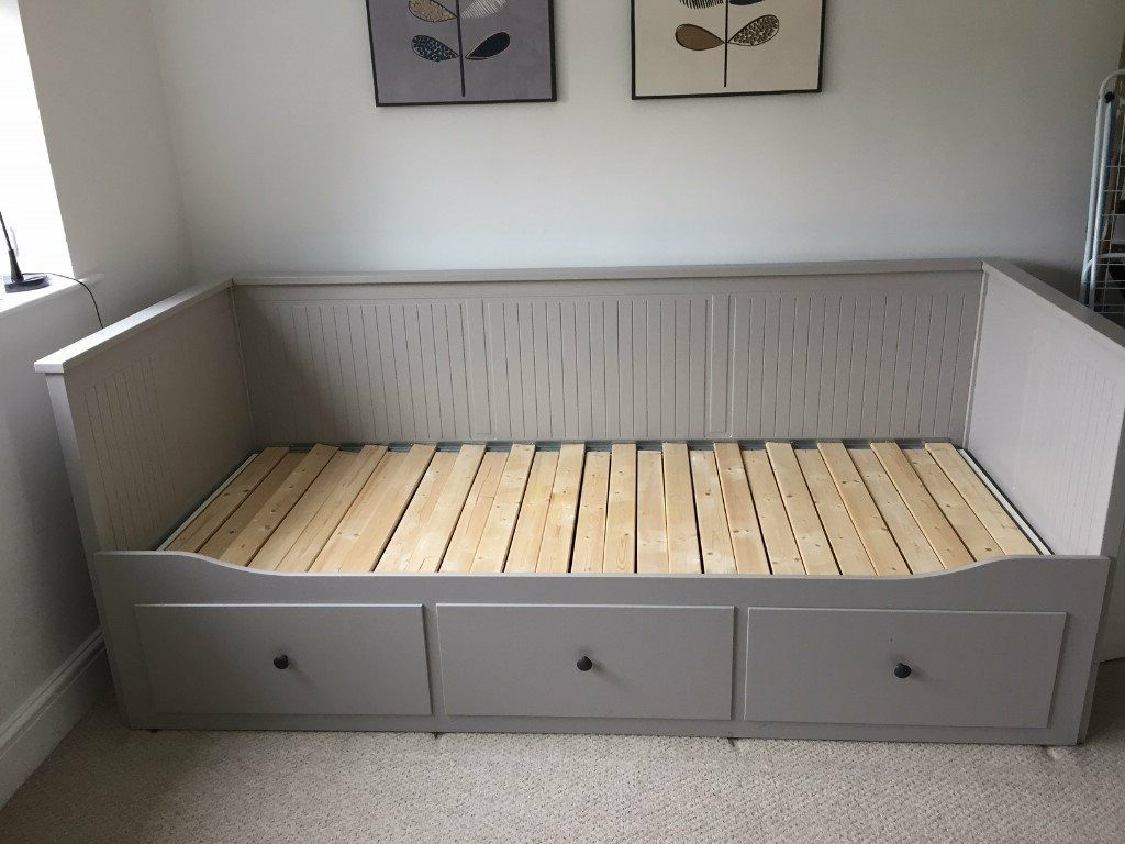 Ikea Day Bed Frame With 3 Drawers Hemnes Grey (View 16 of 25)