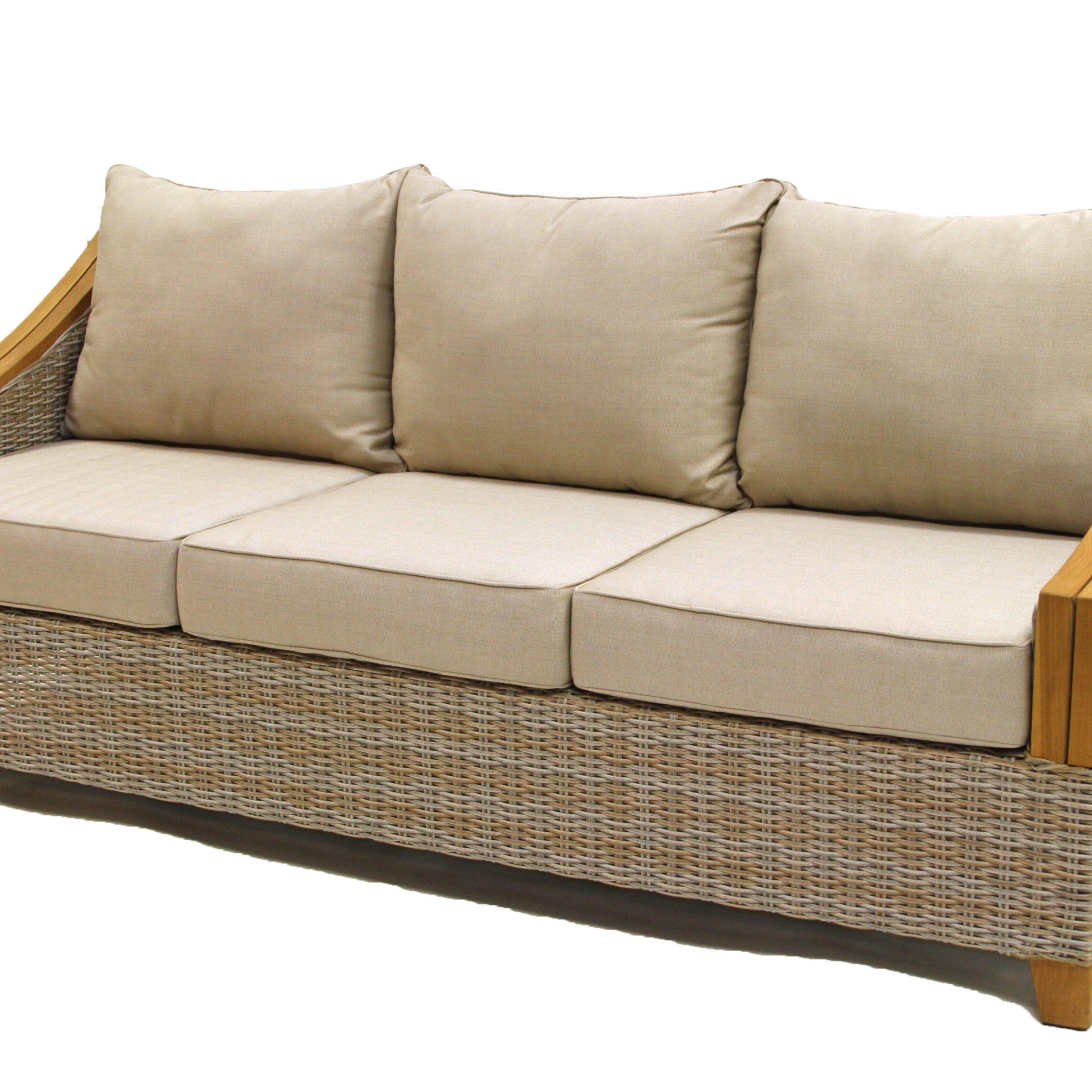 Kincaid Teak Patio Sofa With Sunbrella Cushions Pertaining To Best And Newest Kincaid Teak Patio Sofas With Sunbrella Cushions (View 2 of 25)